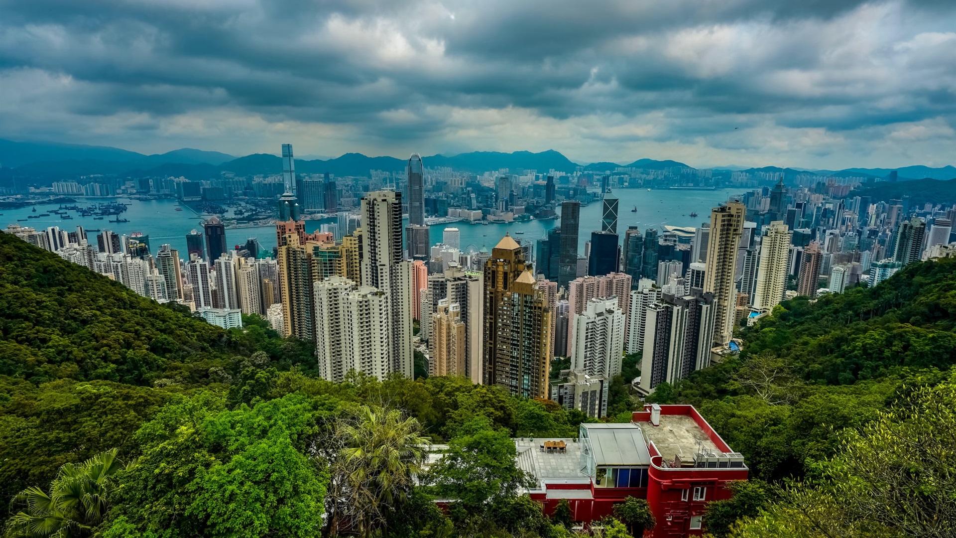Hong Kong City View From Mountain Top Views 750x1334 Iphone 8 7