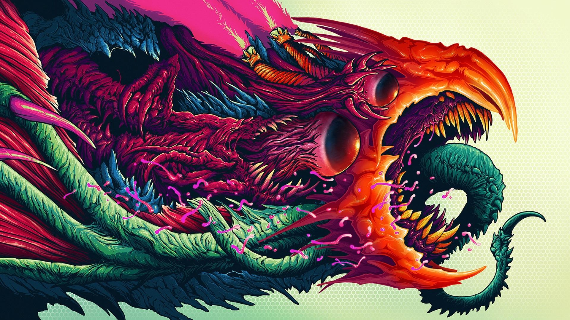 Wallpaper Monster Colorful Art Painting 1920x1080 Full Hd 2k