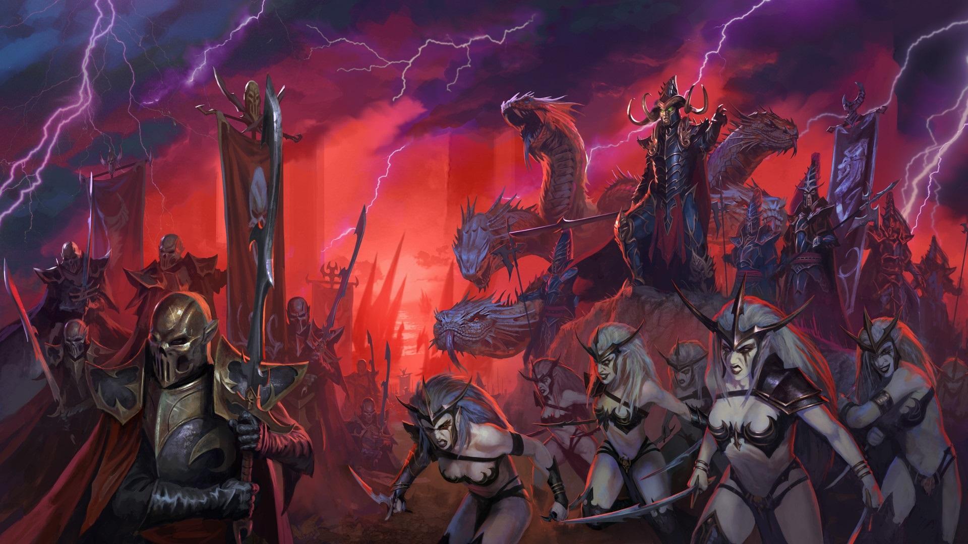 Wallpaper Total War Warhammer Ii Warrior Monster Lightning