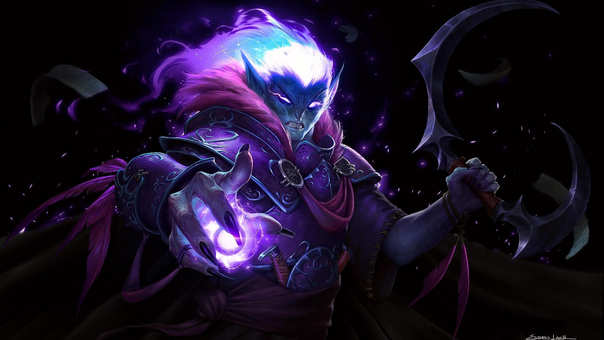 Dark Elf World Of Warcraft Wow Art Picture 640x1136 Iphone 5 5s
