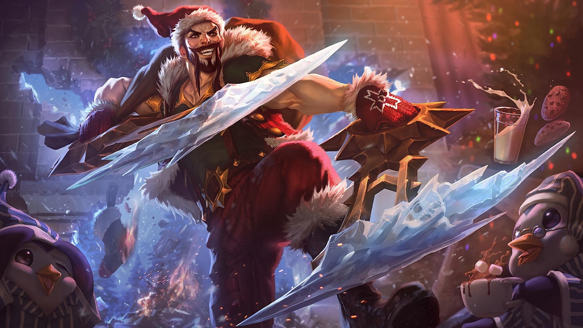 Wallpaper League Of Legends Santa Art Picture 1920x1080 Full Hd