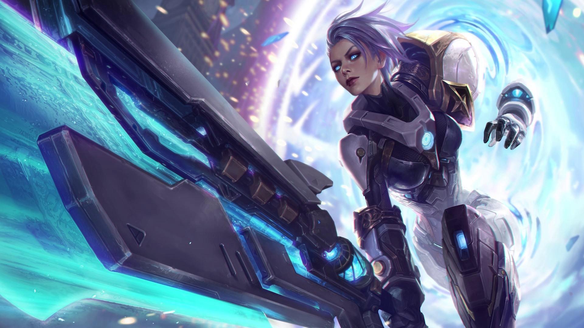 Wallpaper League Of Legends Girl Weapons 1920x1080 Full Hd 2k