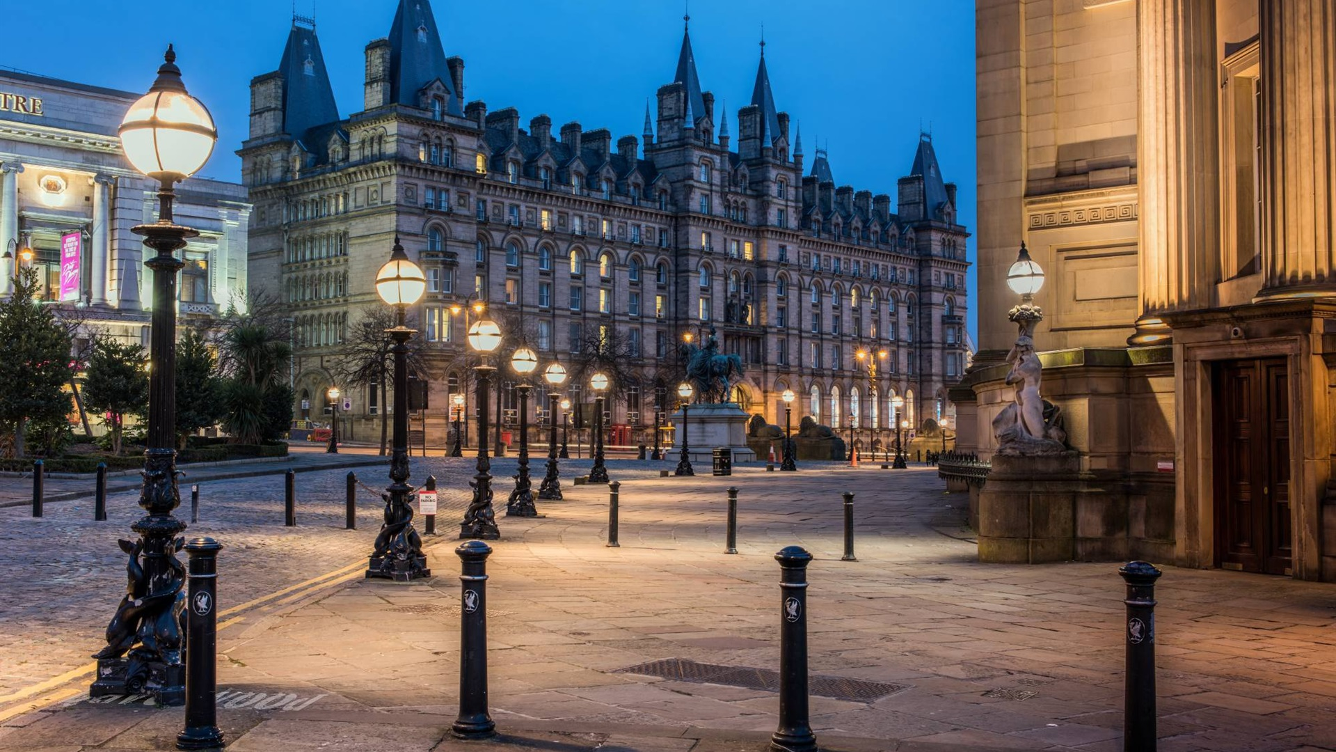 Wallpaper Liverpool England City Lamps Night 1920x1200 Hd Picture Image