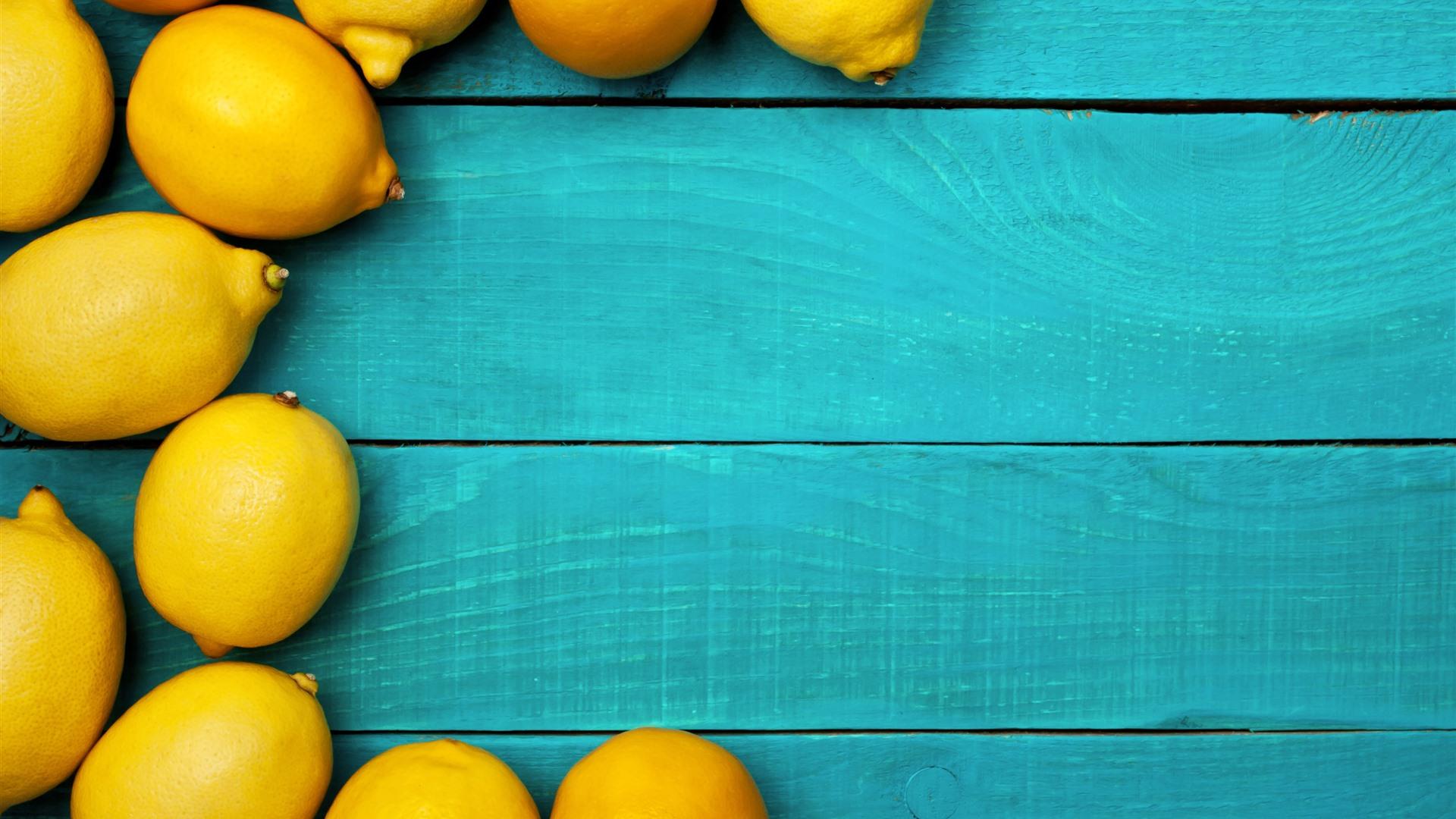 Fondos De Pantalla Iphone 7 Plus: Algunos Limones Amarillos, Tablero De Madera Azul