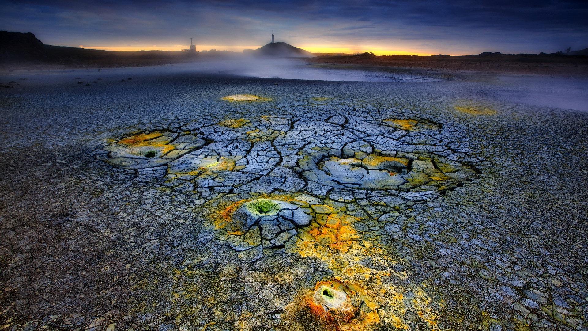 Fondos De Pantalla De Lava: Fondos De Pantalla Volcán, Lava, Crack, Crepúsculo