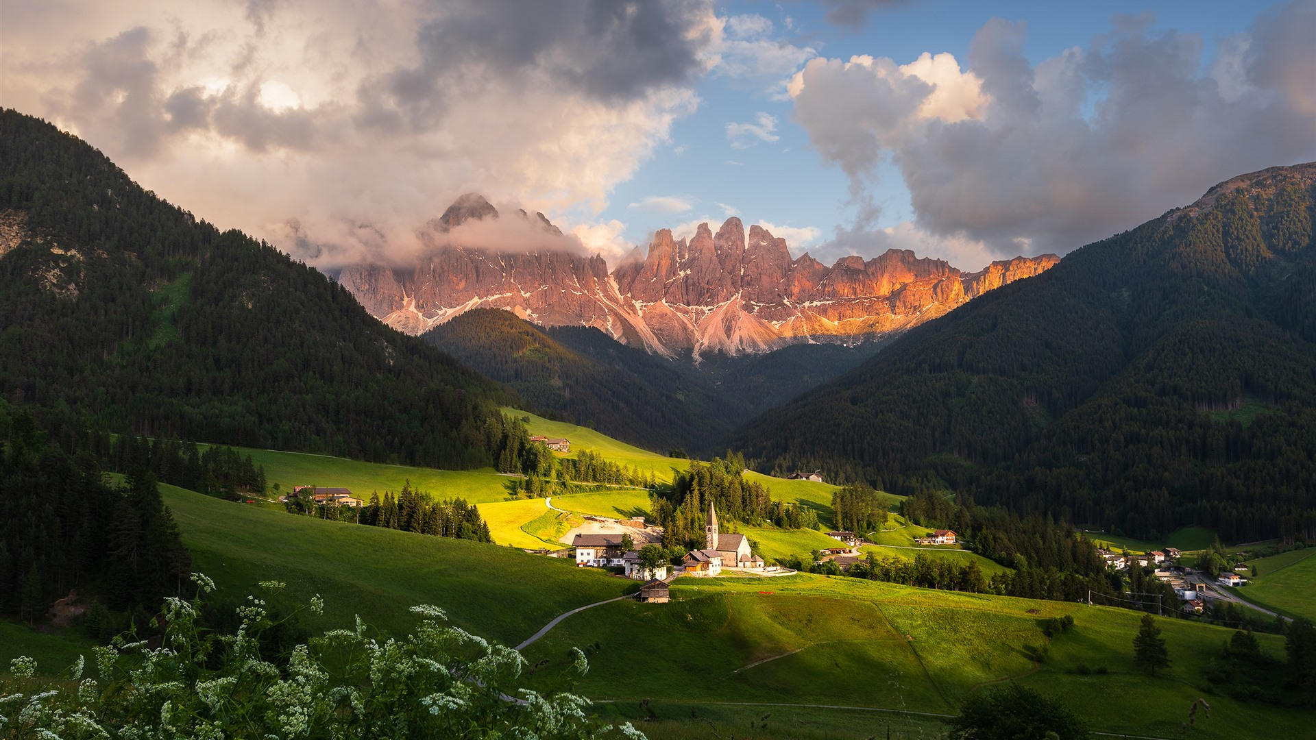 Dolomites Mountains Village Clouds Italy 750x1334