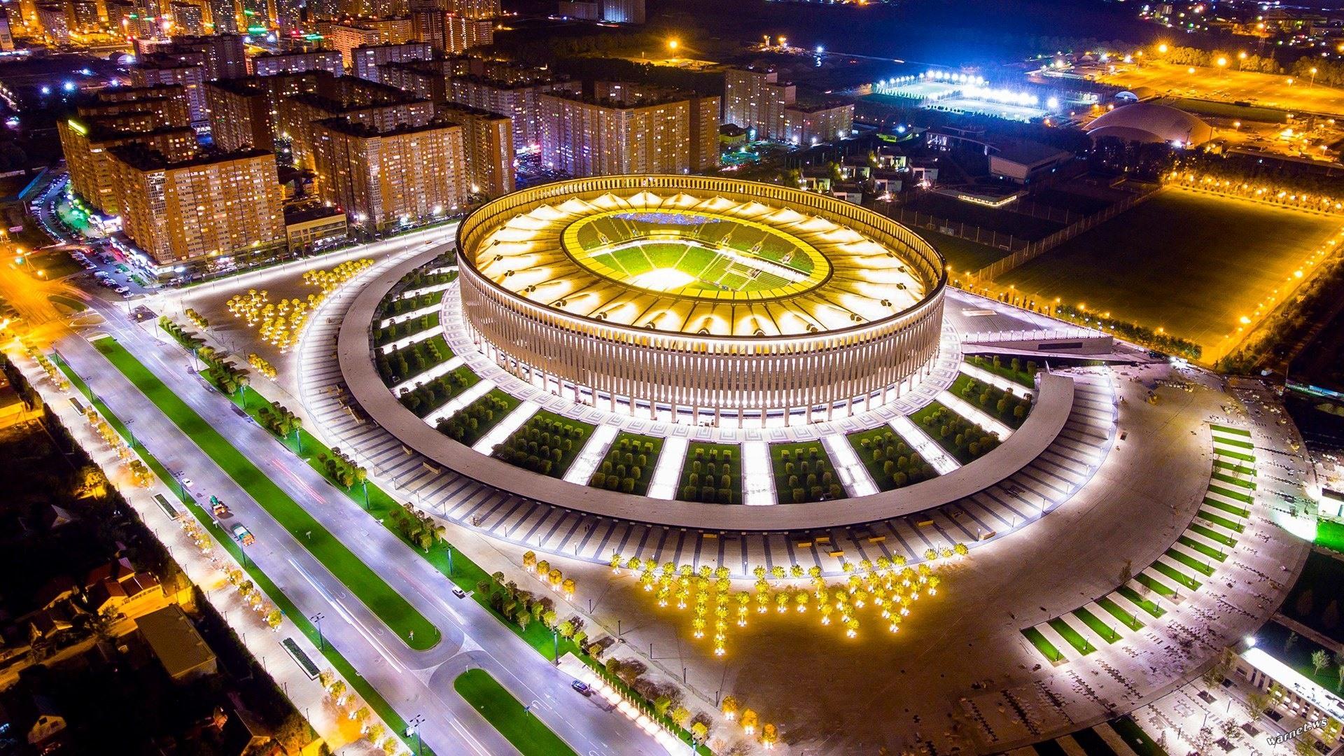 Stadium Soccer Football Sports Qhd Wallpaper 2560x2560: Wallpaper Russia, Kuban, Krasnodar, Football Stadium