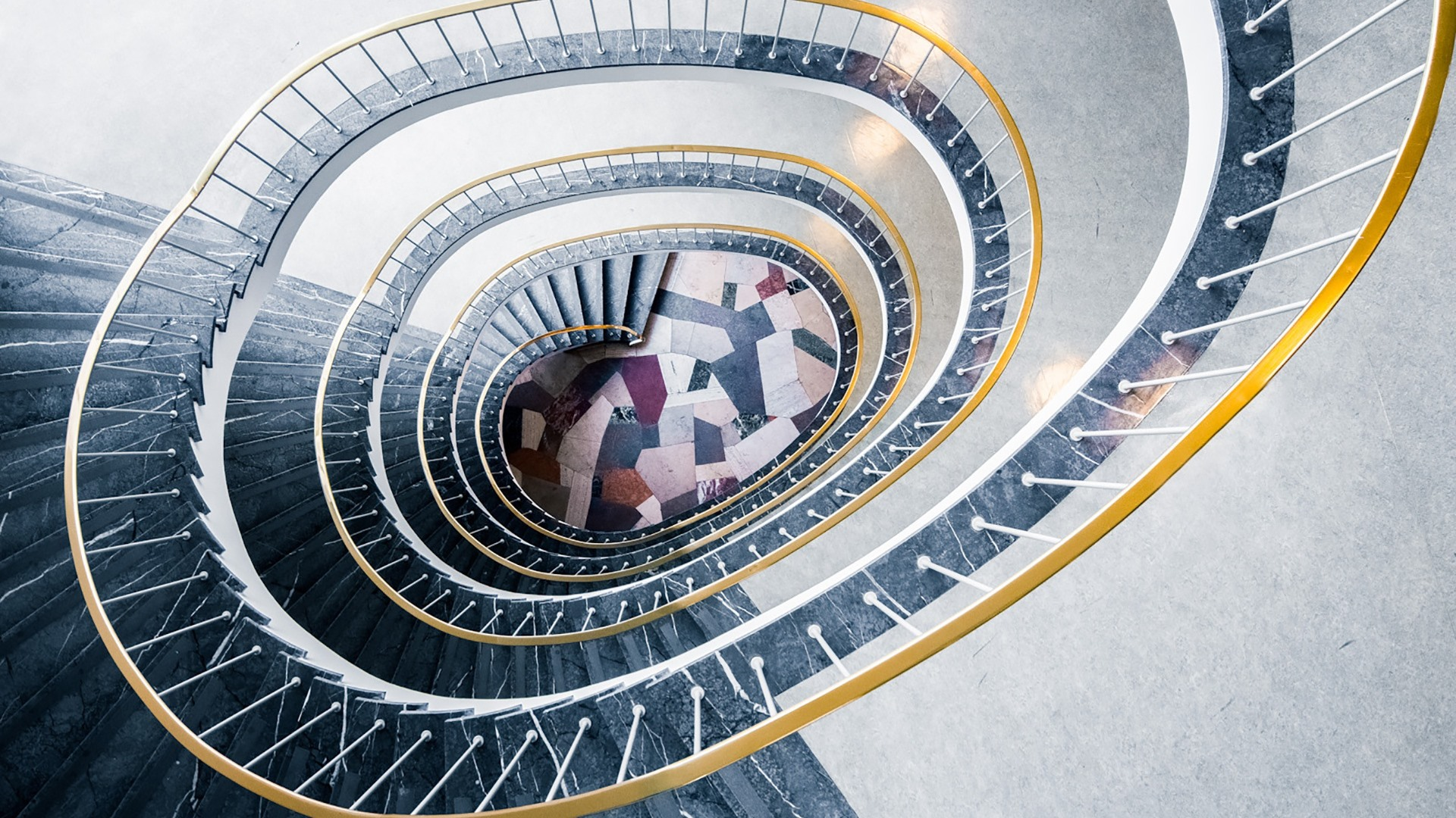 Wallpaper Stairs Handrail Spiral 1920x1200 Hd Picture Image