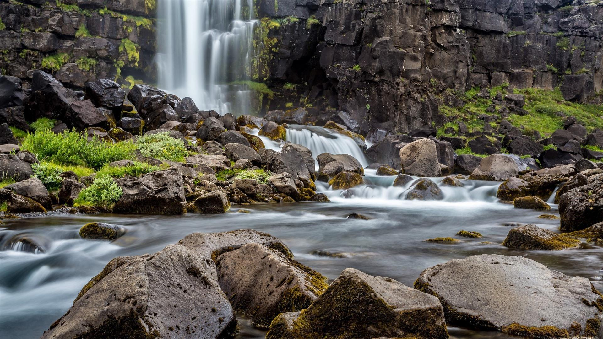 Wallpaper Stones Rocks Water Waterfall 1920x1200 Hd