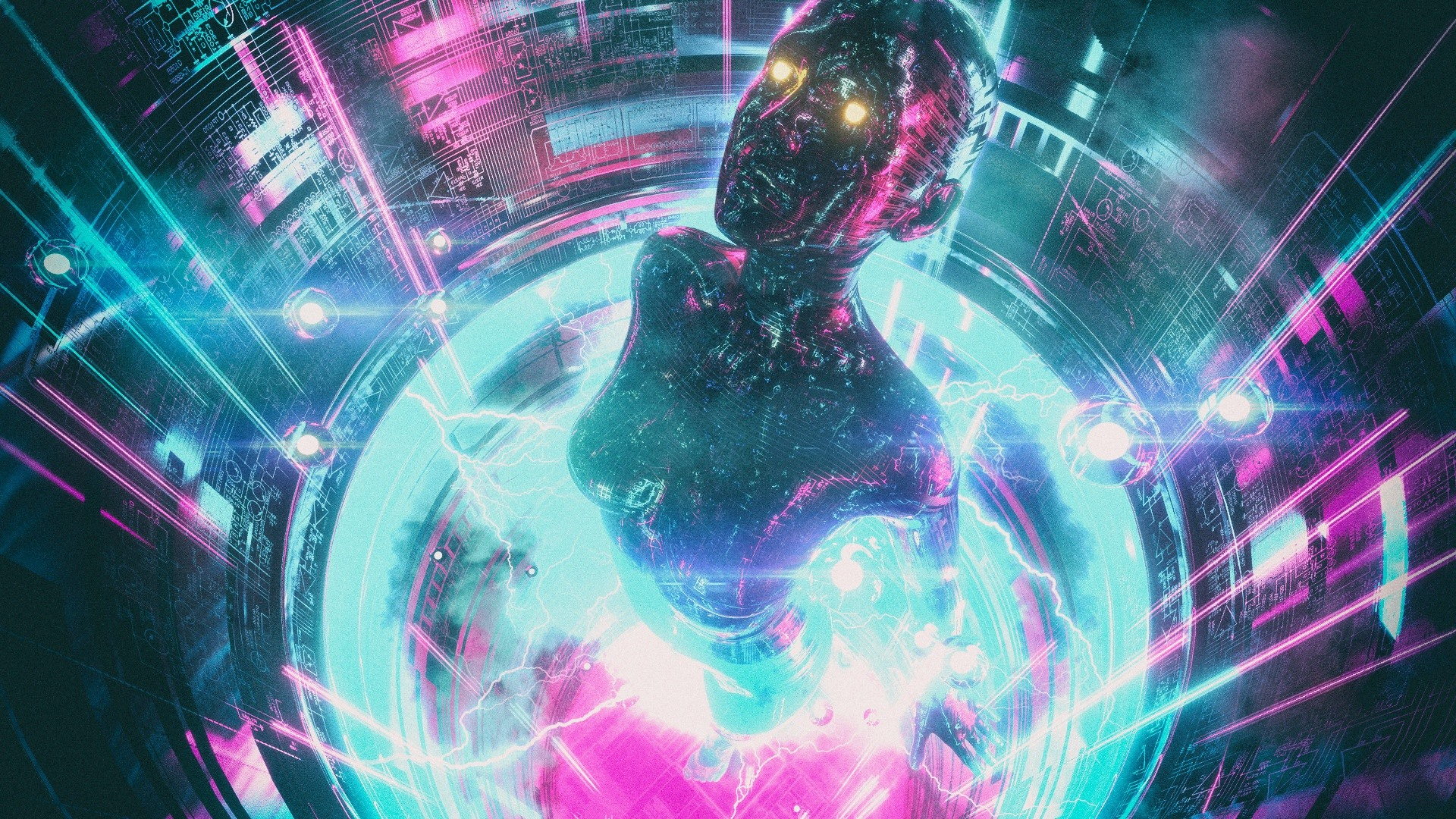 Cyberpunk 2077 Wallpapers Hd: Wallpaper Cyberpunk 2077, Girl, Neon 1920x1080 Full HD 2K
