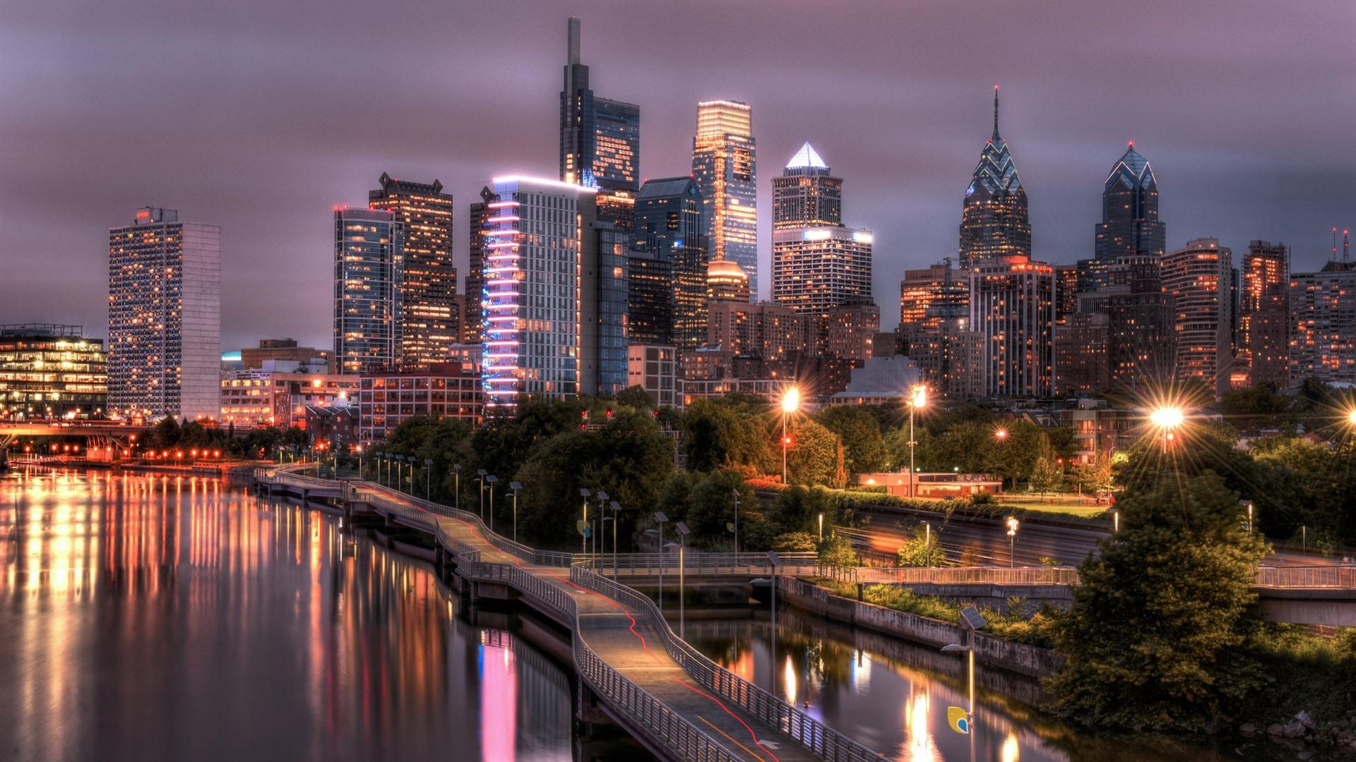 Обои филадельфия, philadelphia, ночь, сша. Города foto 8