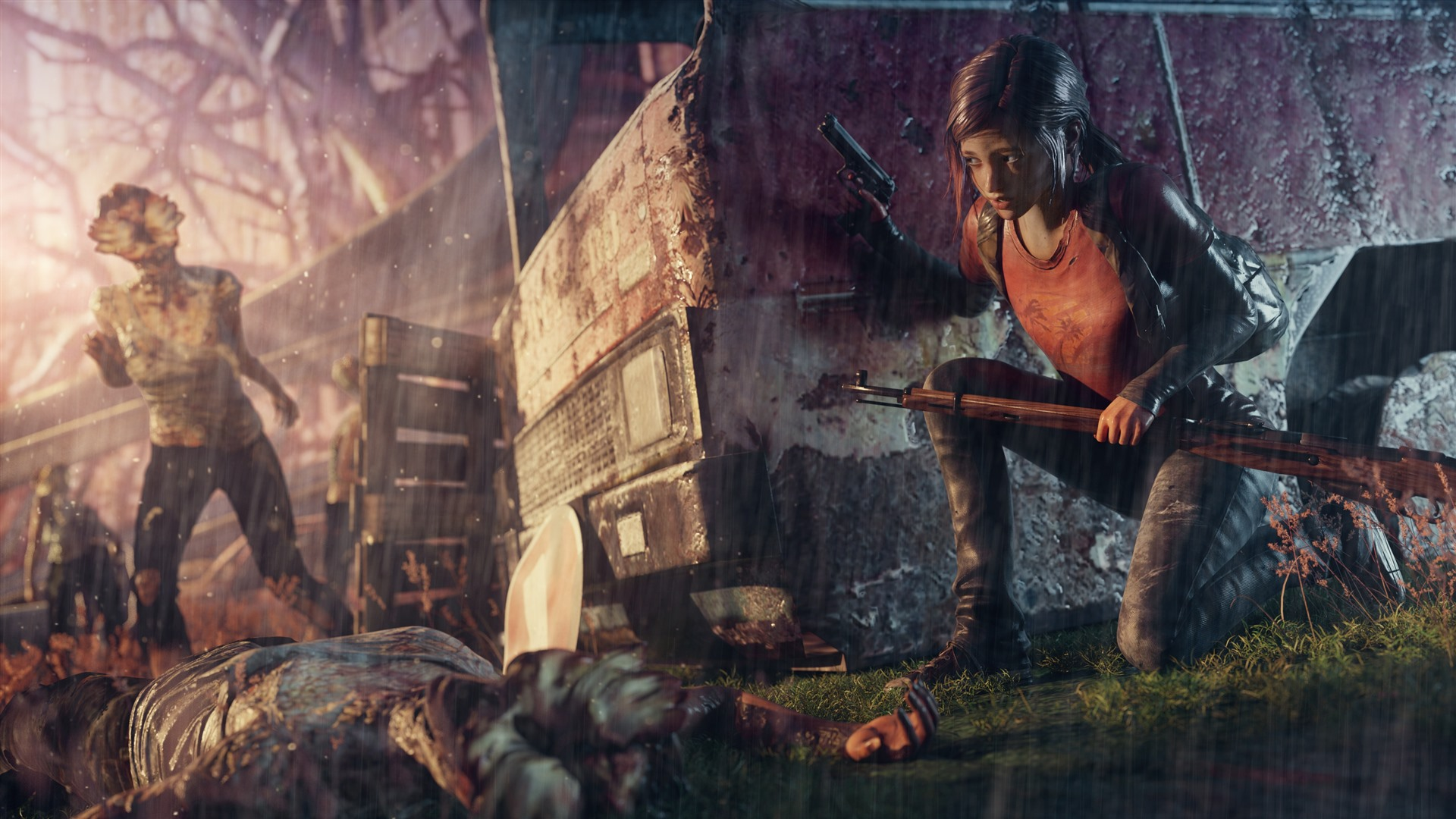Wallpaper The Last Of Us Girl Rain 3840x2160 Uhd 4k Picture Image