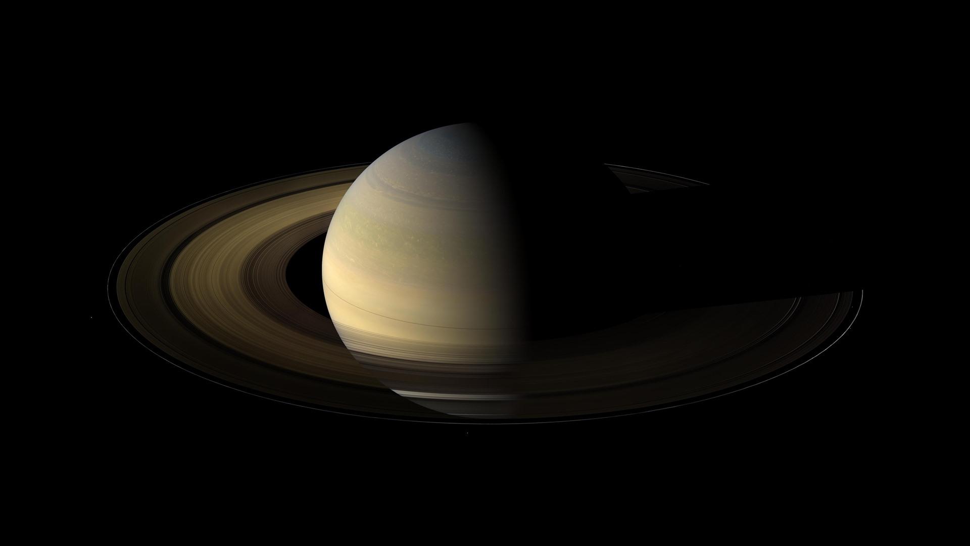 Wallpaper Space Saturn Round Ring Darkness 3840x2160 Uhd