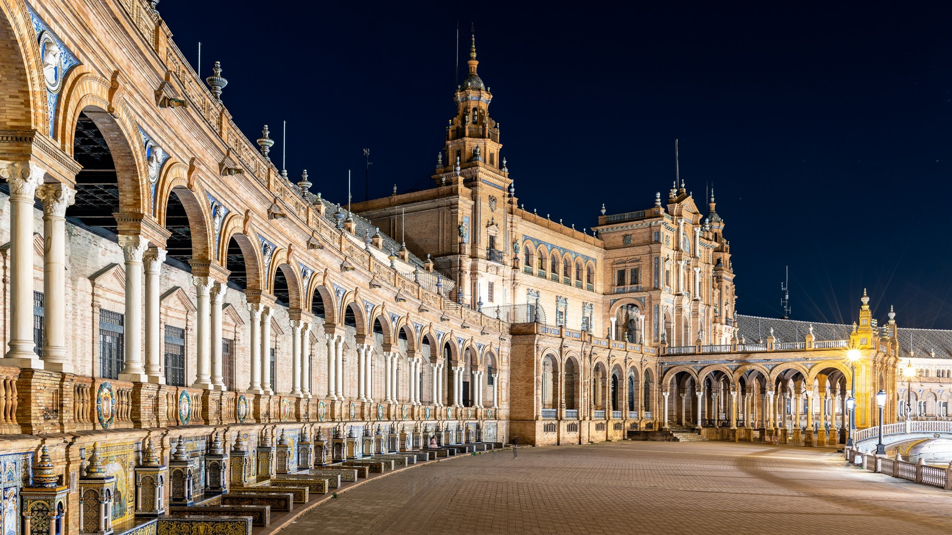 Wallpaper Plaza Of Spain Madrid Night City 2560x1600 Hd Picture Image
