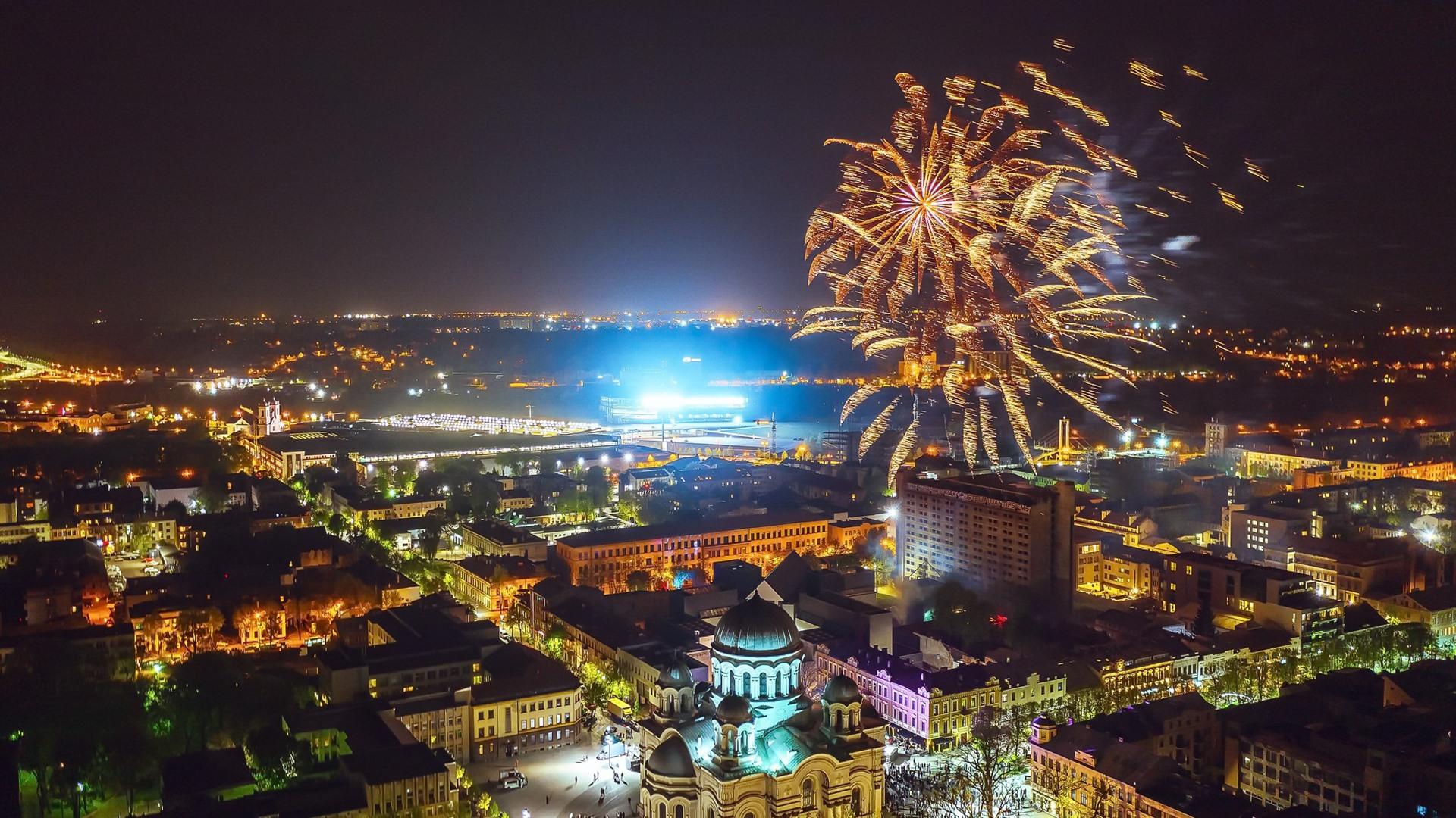Обои новый город, вильнюс, освещение. Города foto 10