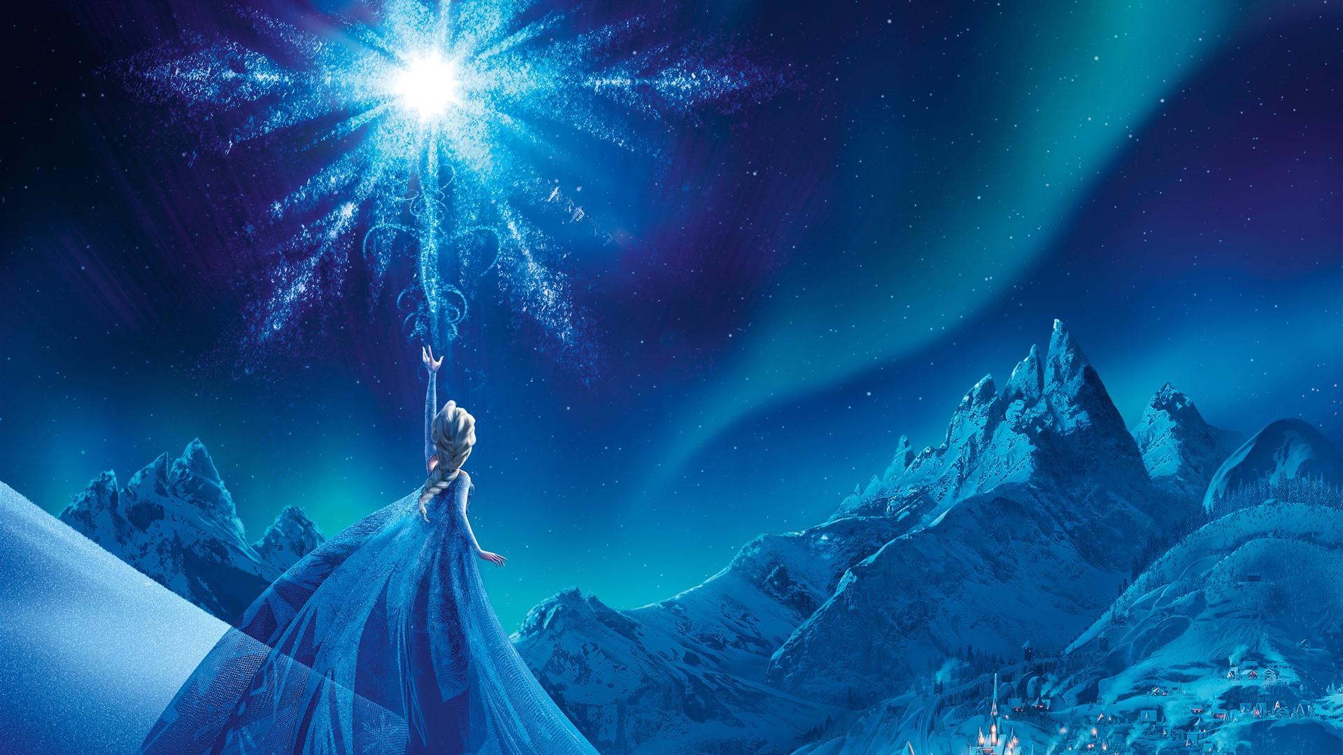 壁紙 アナと雪の女王、エルザ、夜、スノーフレーク 3840x2160 UHD 4K 無料のデスクトップの背景, 画像