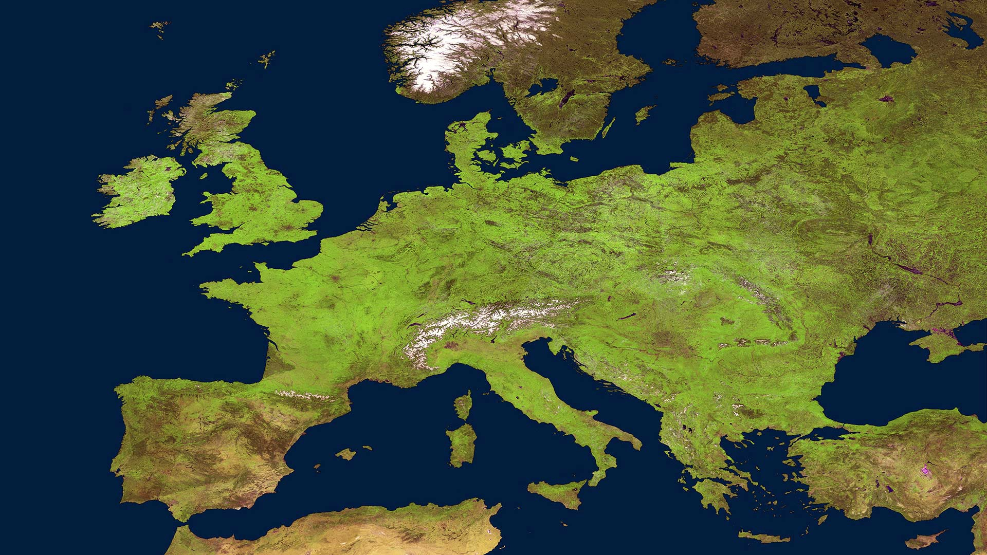 Wallpaper Map Of Europe 1920x1080 Full Hd 2k Picture Image