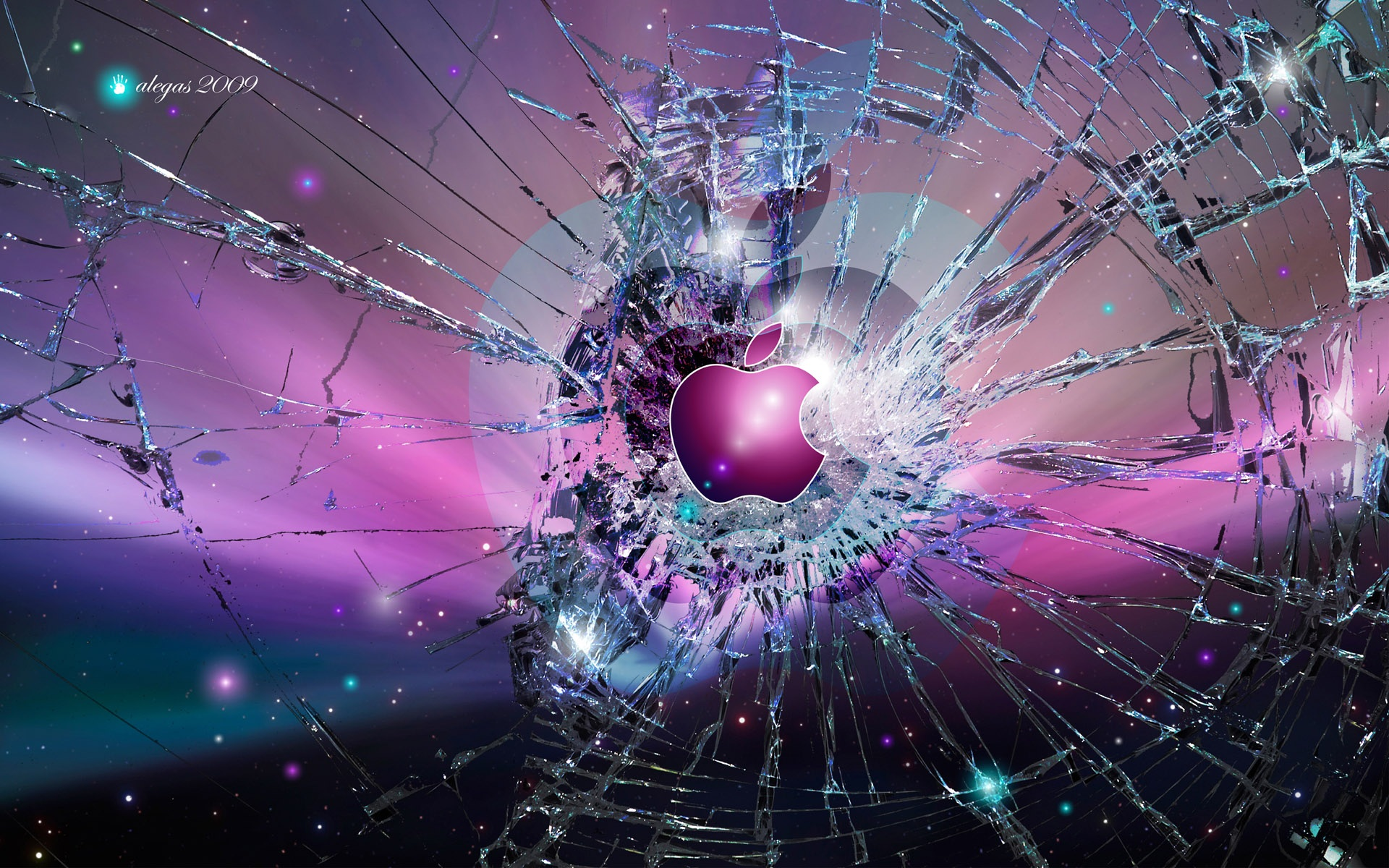 Wallpaper apple broken screen background 1920x1200 hd picture image download this wallpaper voltagebd Choice Image