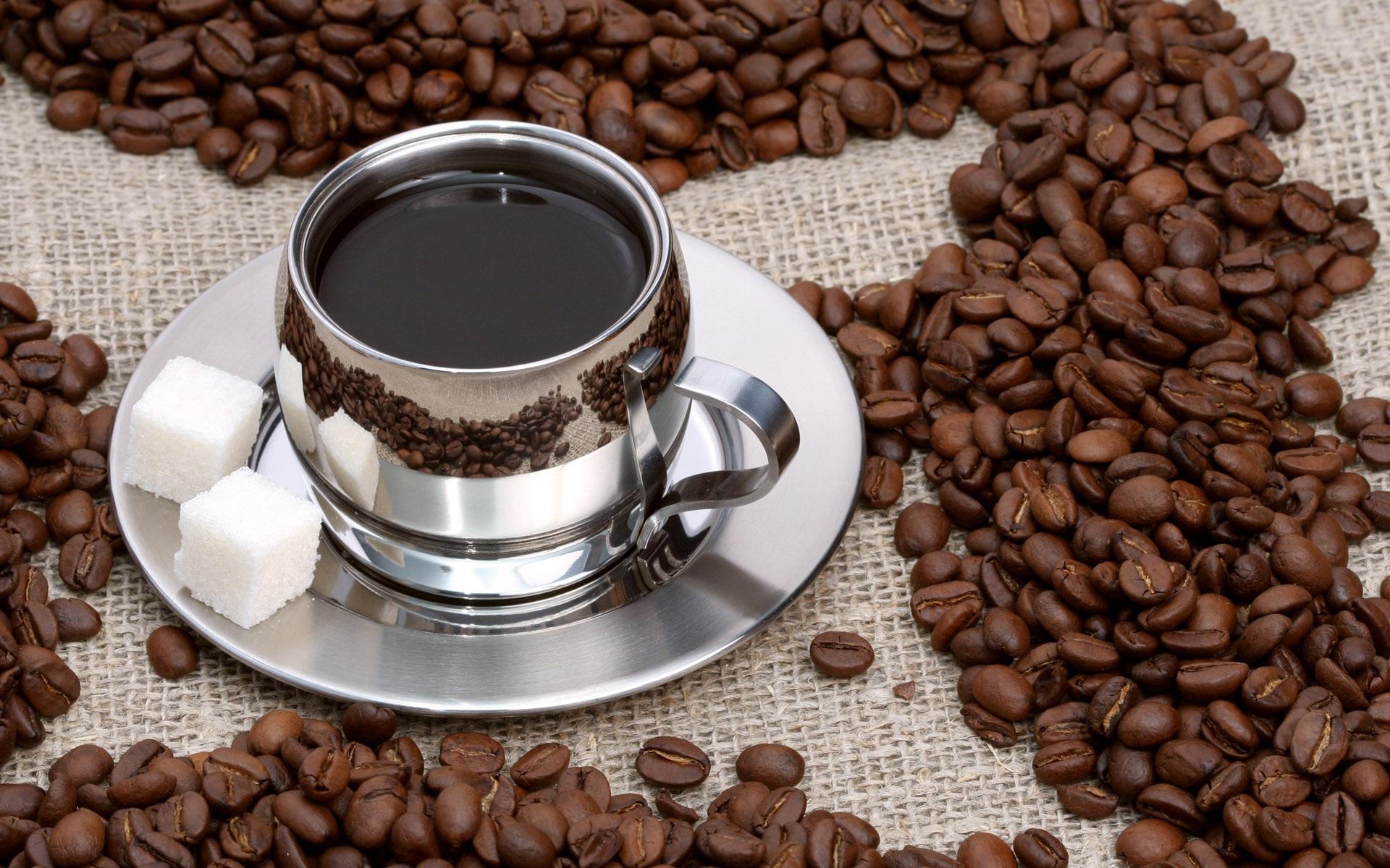 コーヒーとコーヒー豆 壁紙 - 1920x1200    1920x1200 壁紙ダウンロード