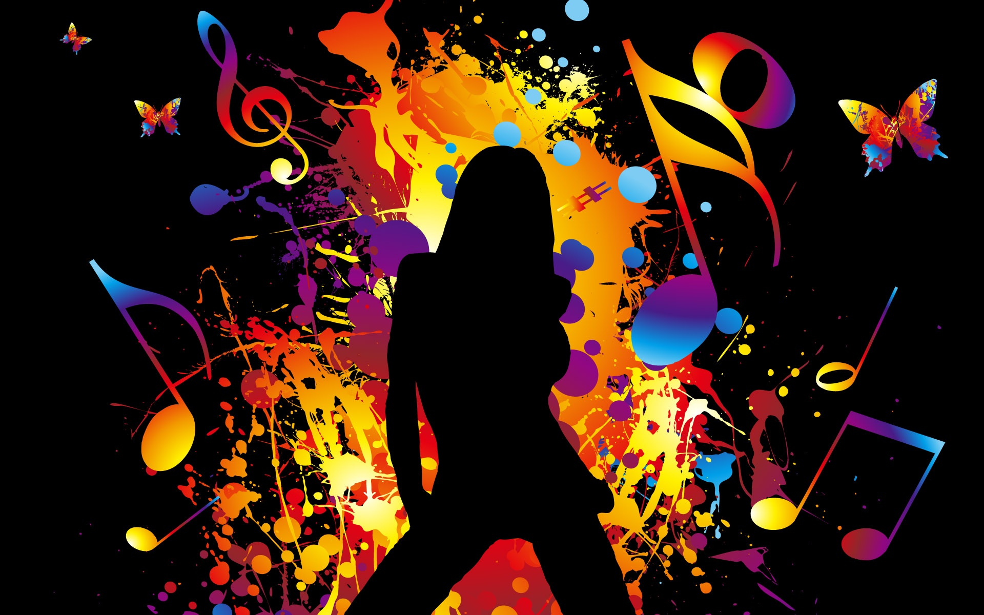 cool colorful music wallpapers - photo #14