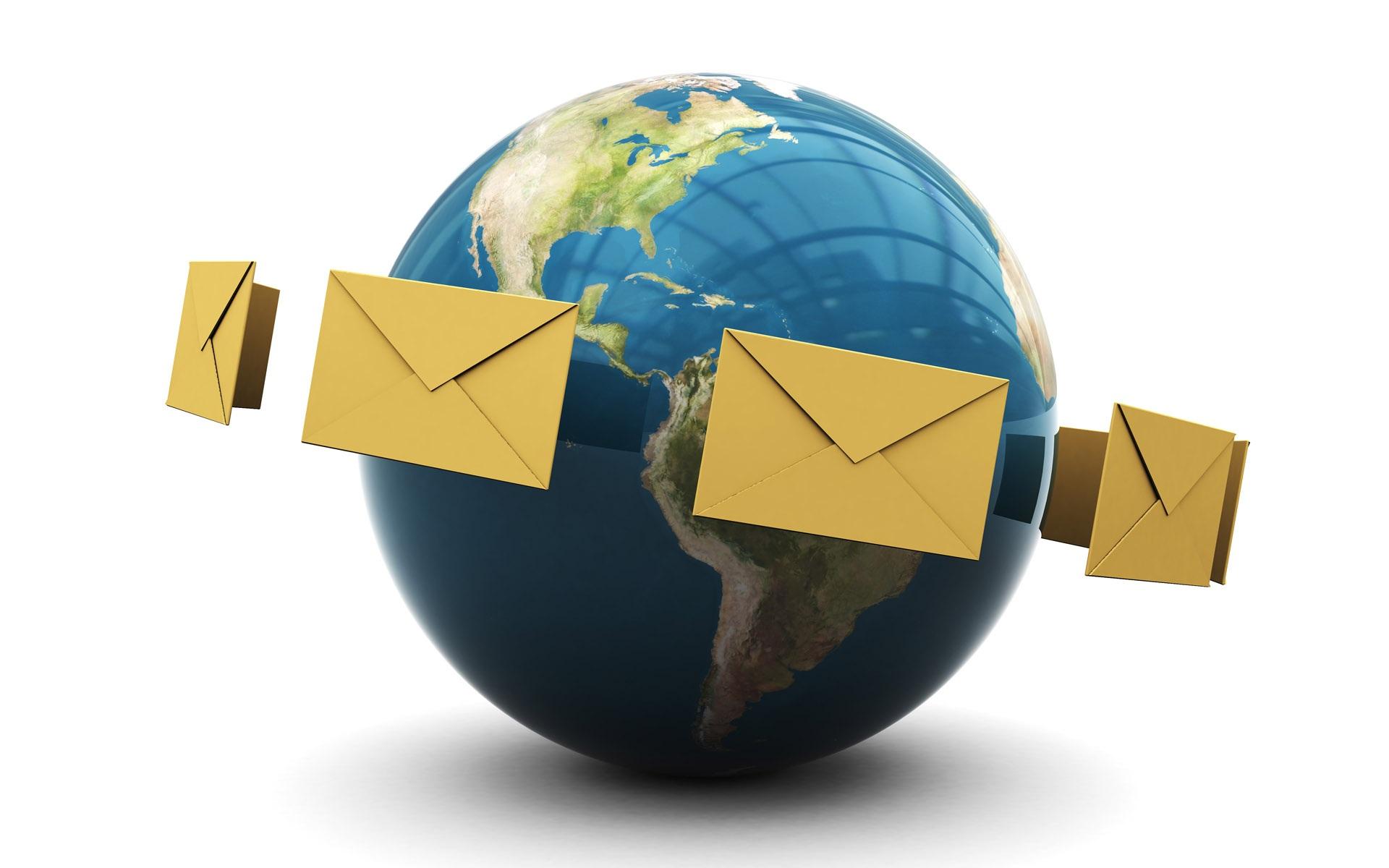 Mail en todo el mundo en 3d fondos de pantalla 1920x1200