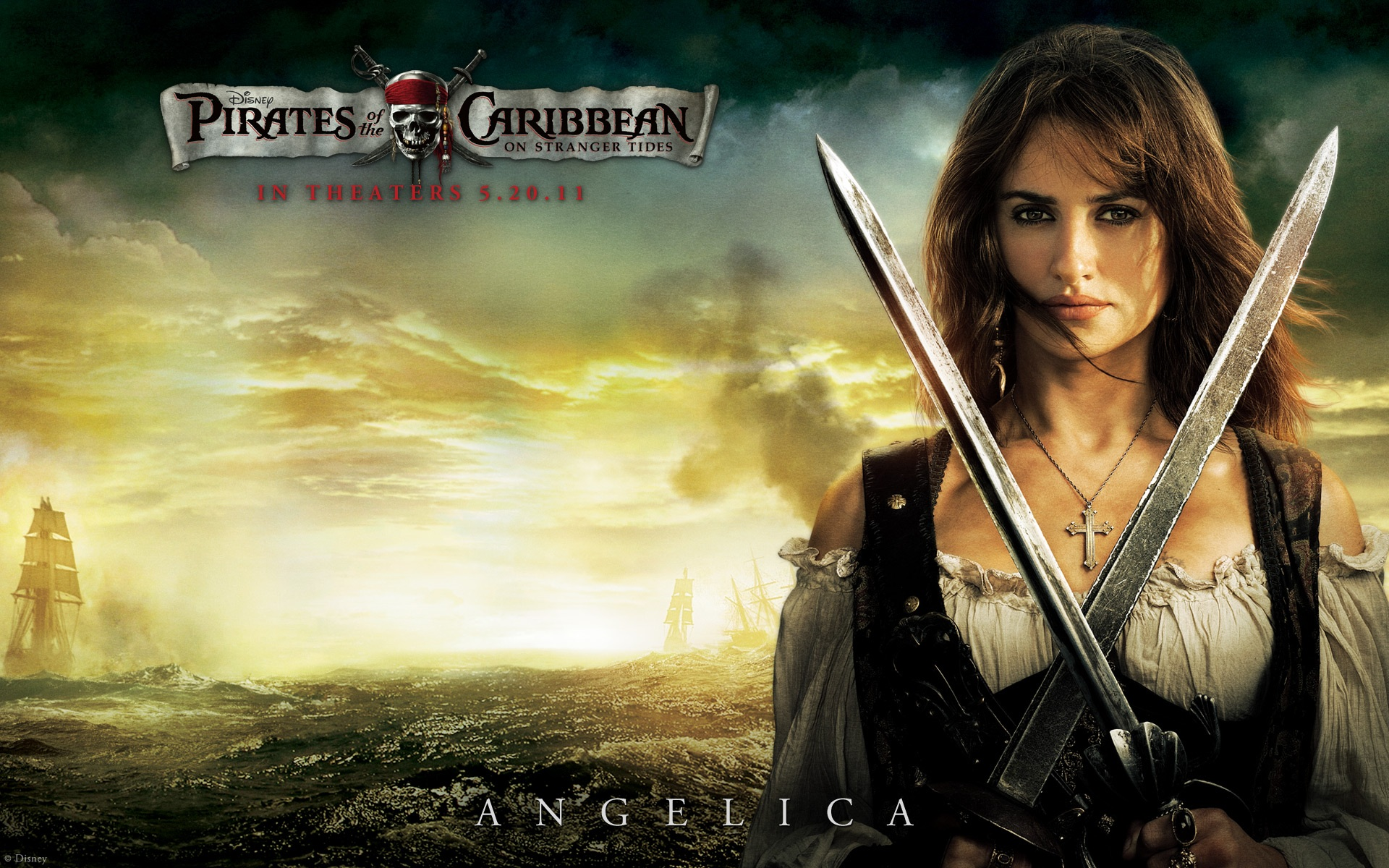 Wallpaper Pirates Of The Caribbean 4 Angelica 1920x1200 Hd Picture