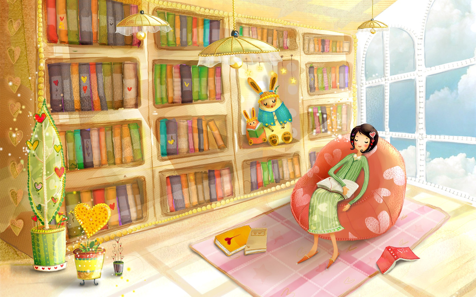 Wallpaper Rest of the girls in the study 1920x1200 HD Picture, Image