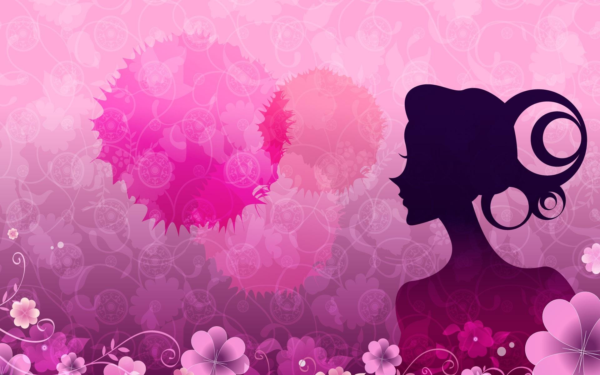 Fondos De Pantalla Vector Las Mujeres Flores De Color Rosa 1920x1200