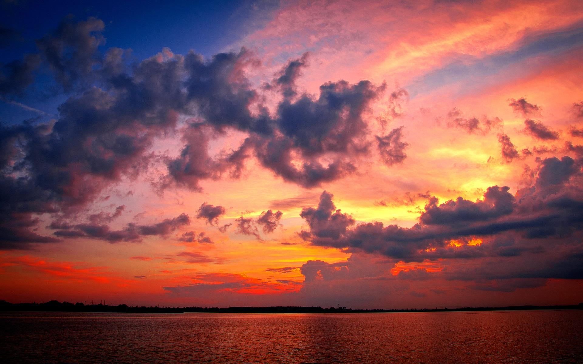 закат природа небо без смс