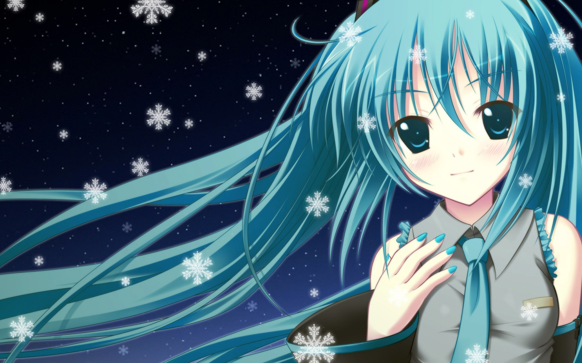 anime girl wallpaper 1920x1200 wallpaper download blue hair anime girl ...