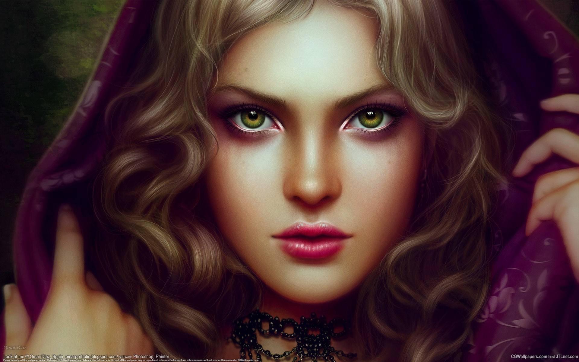 Wallpaper Green Eyes Fantasy Girl 1920x1200 Hd Picture Image