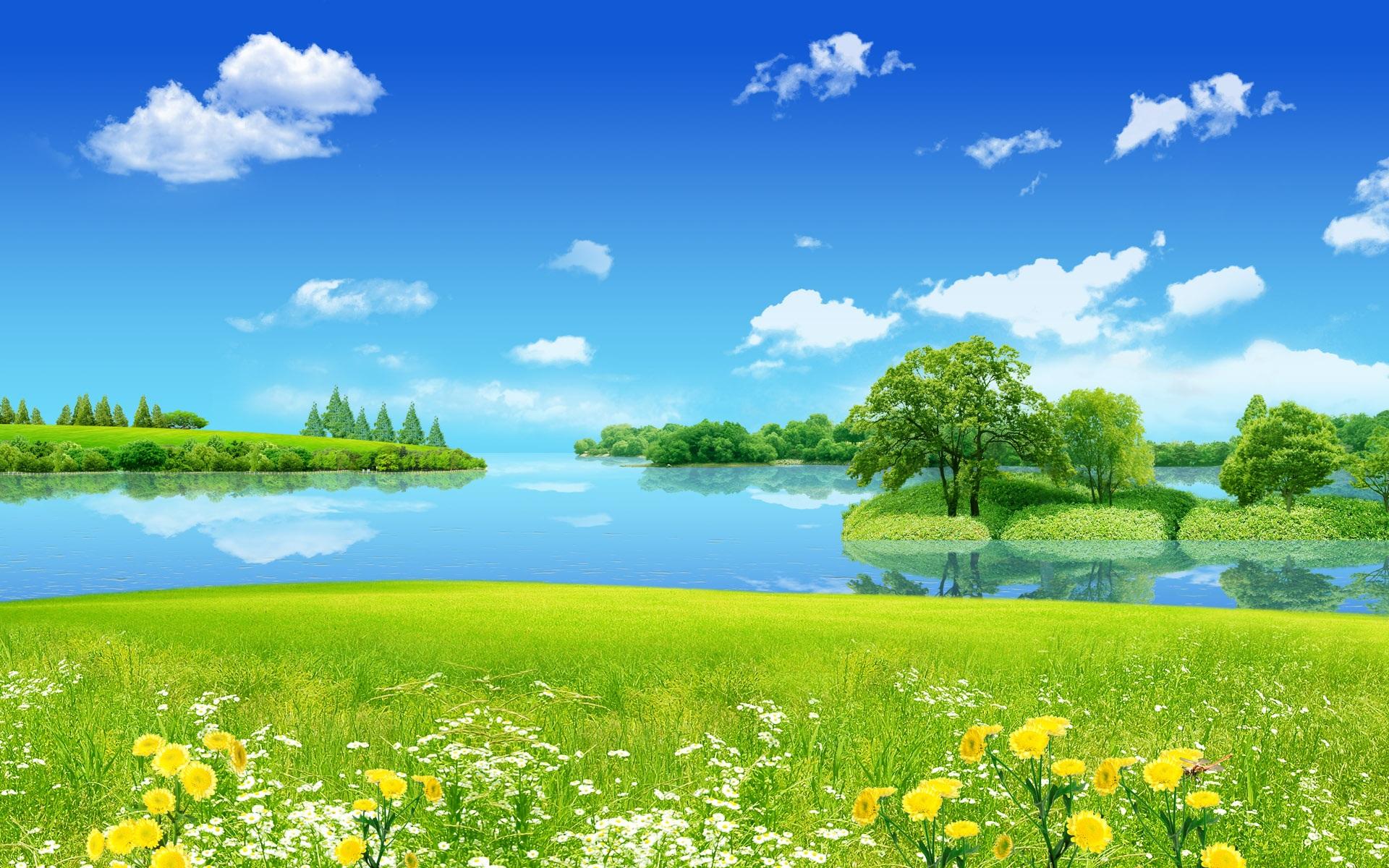Fonds d 39 cran r ve de paysages d 39 t 1920x1200 hd image for Fond ecran gratuit paysage ete