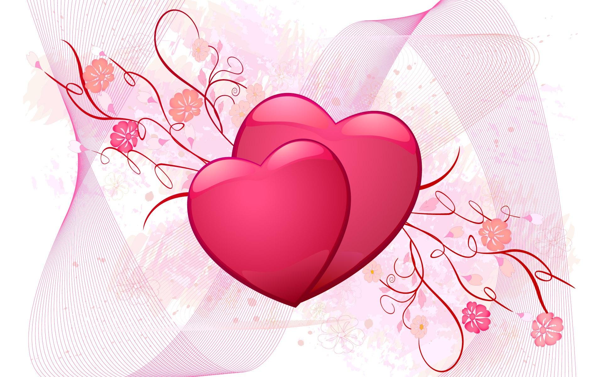 Fonds d'écran Amour coeur rose 1920x1200 HD image