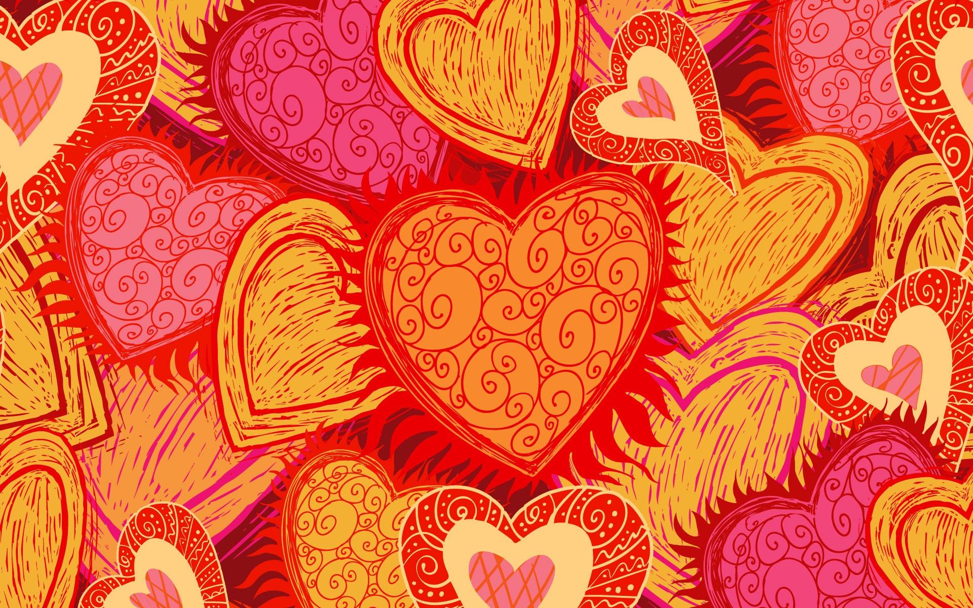 桌布 紅色愛心背景 1920x1200 HD 高清桌布, 圖片, 照片