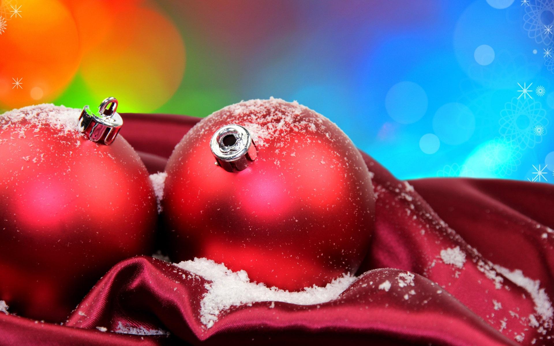 Fondos De Pantalla Fondo Azul Rojo Bola De Navidad