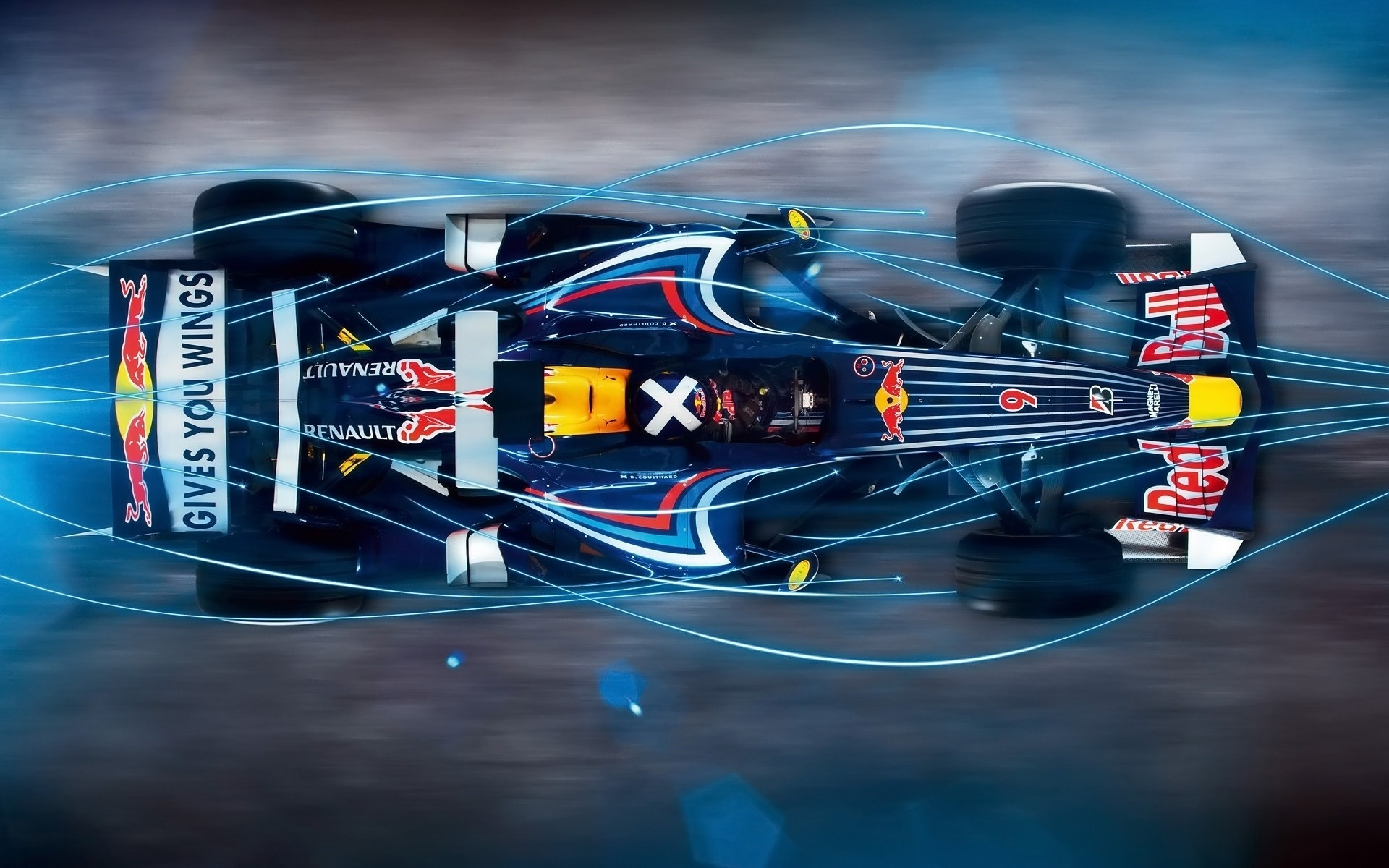 Wallpaper Blue Light Red Bull F1 Car 1920x1440 Hd Picture Image