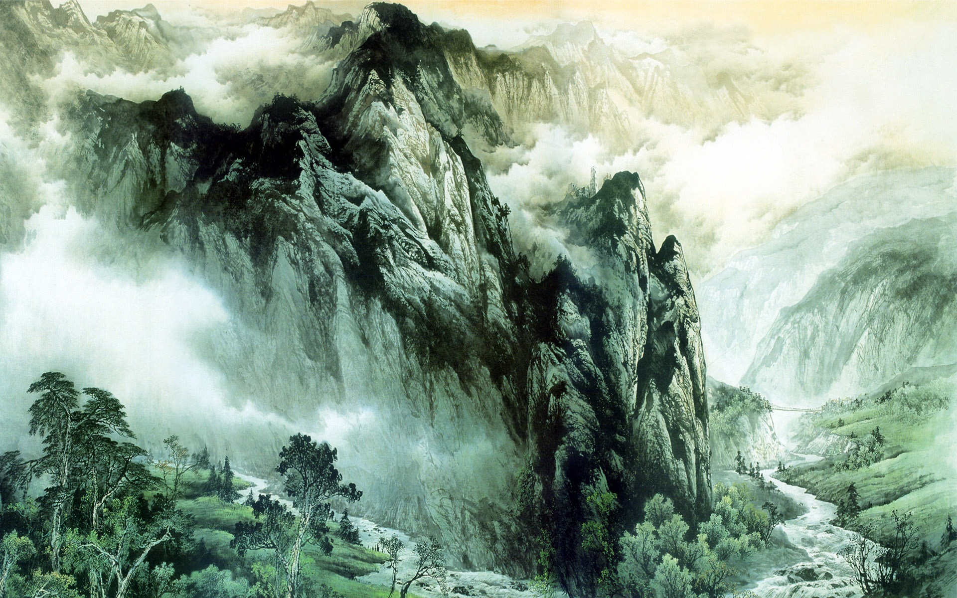 chinese art mountains - photo #3