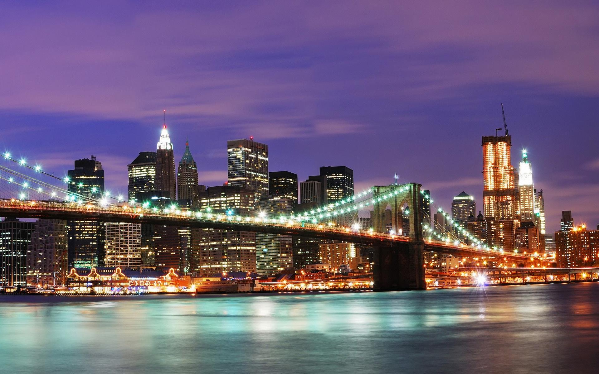 Fonds Décran Etats Unis à New York La Nuit 1920x1200 Hd Image