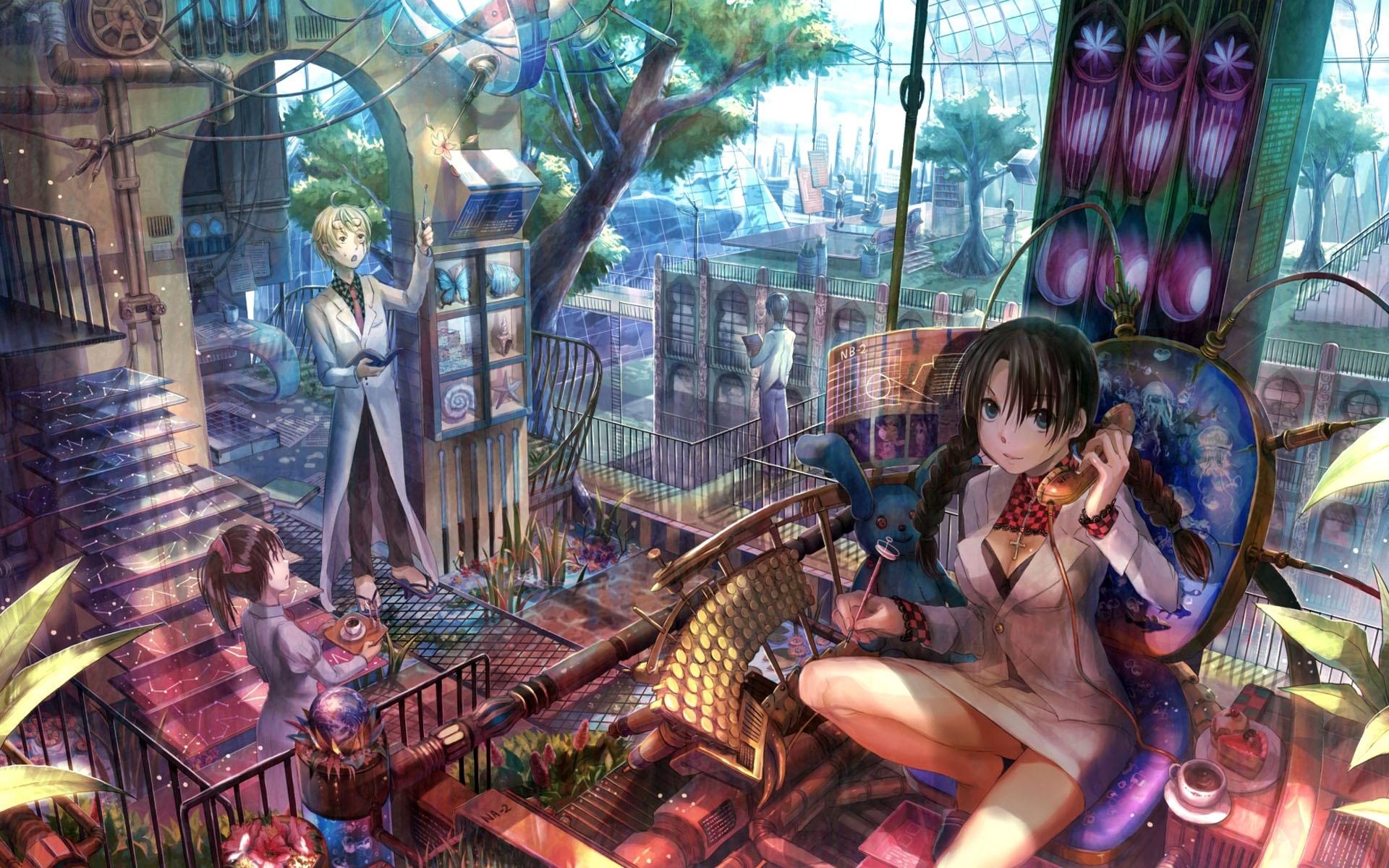 Anime Mädchen in einer Bar 1920x1200 HD Hintergrundbilder, HD, Bild