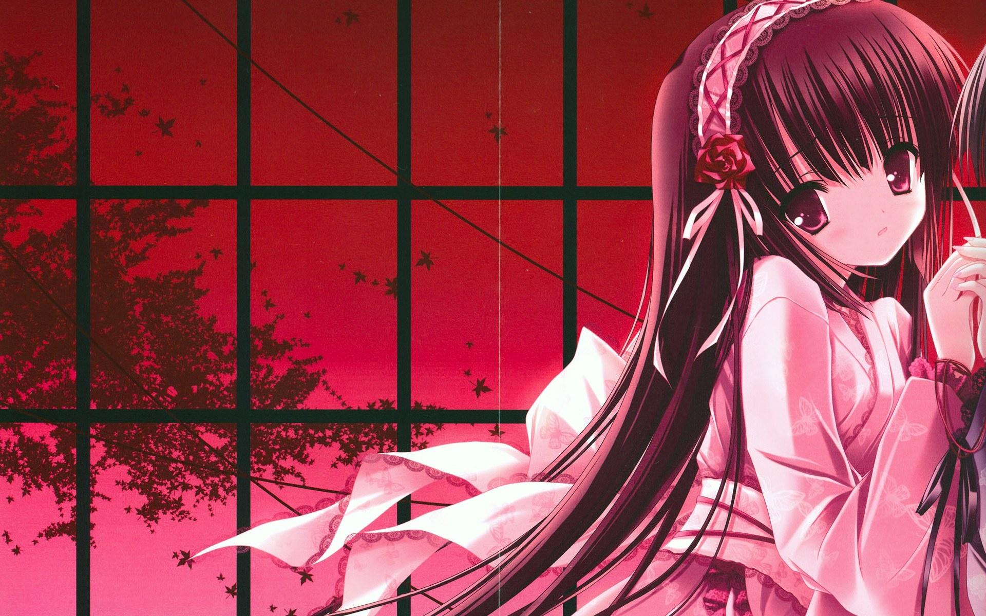 ダウンロード壁紙 1920x1200 アニメの女の子は、彼女の恋人を見逃す HDのデスクトップの背景