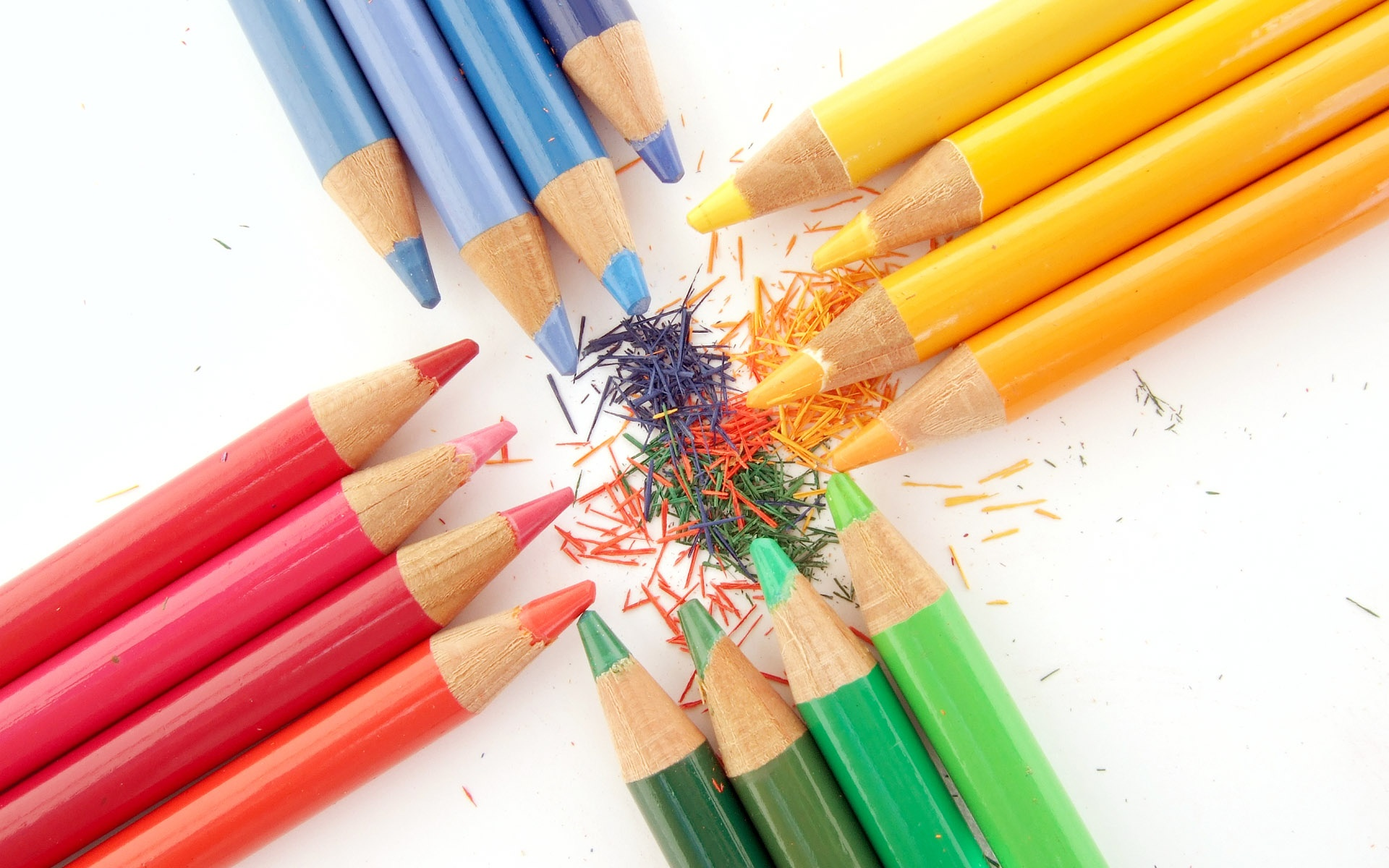 Colored Pencils with Colorful Designs