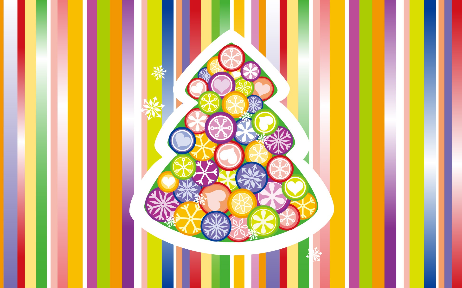 Bunte Vektor Weihnachtsbaum 1920x1200 HD Hintergrundbilder, HD, Bild