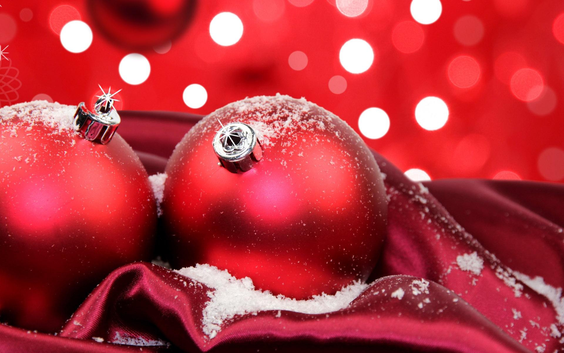 Festliche Rote Weihnachtskugeln 1920x1200 HD