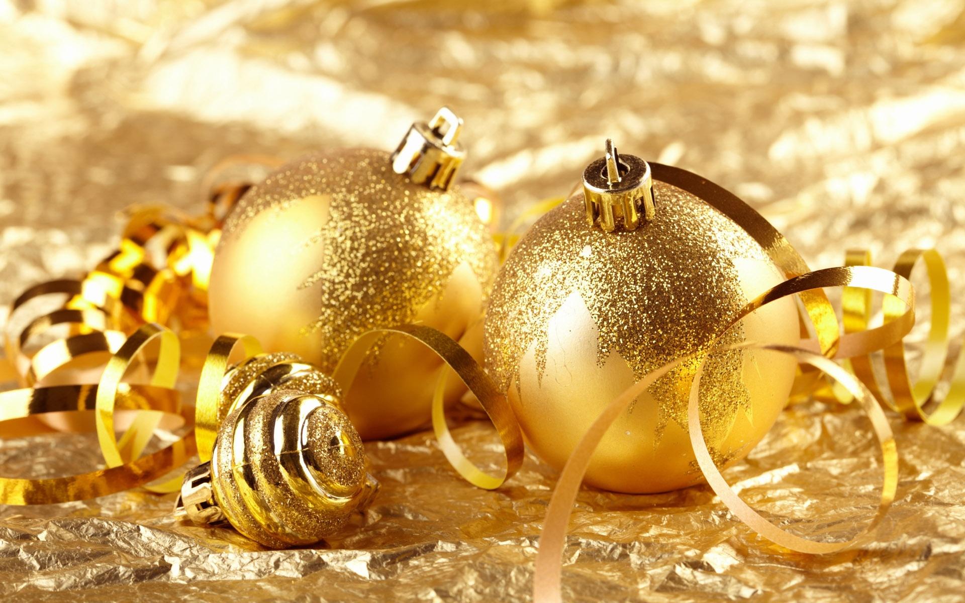 Weihnachtsbilder Mit Kugeln.Gold Ball Weihnachtsdekoration Thema 1920x1200 Hd Hintergrundbilder