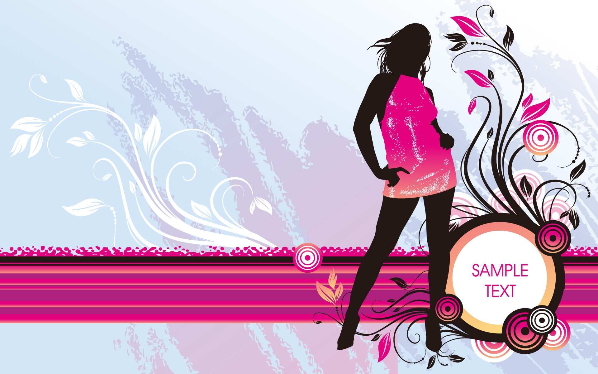 Vector girl fashion pap is de parede 1920x1200 pap is de for Fashion style wallpaper