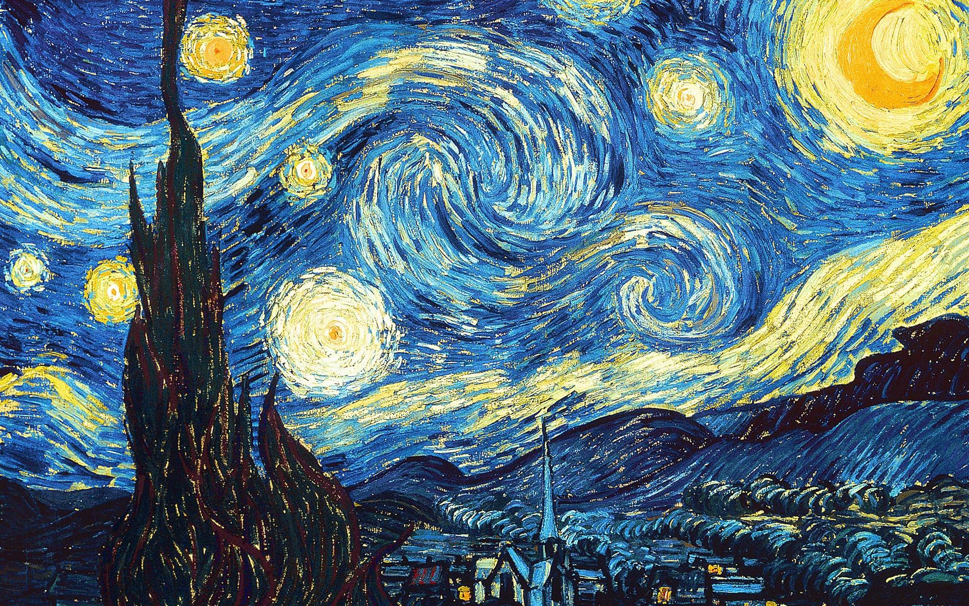 壁纸文森特梵高 星夜1920x1200 Hd 高清壁纸 图片 照片