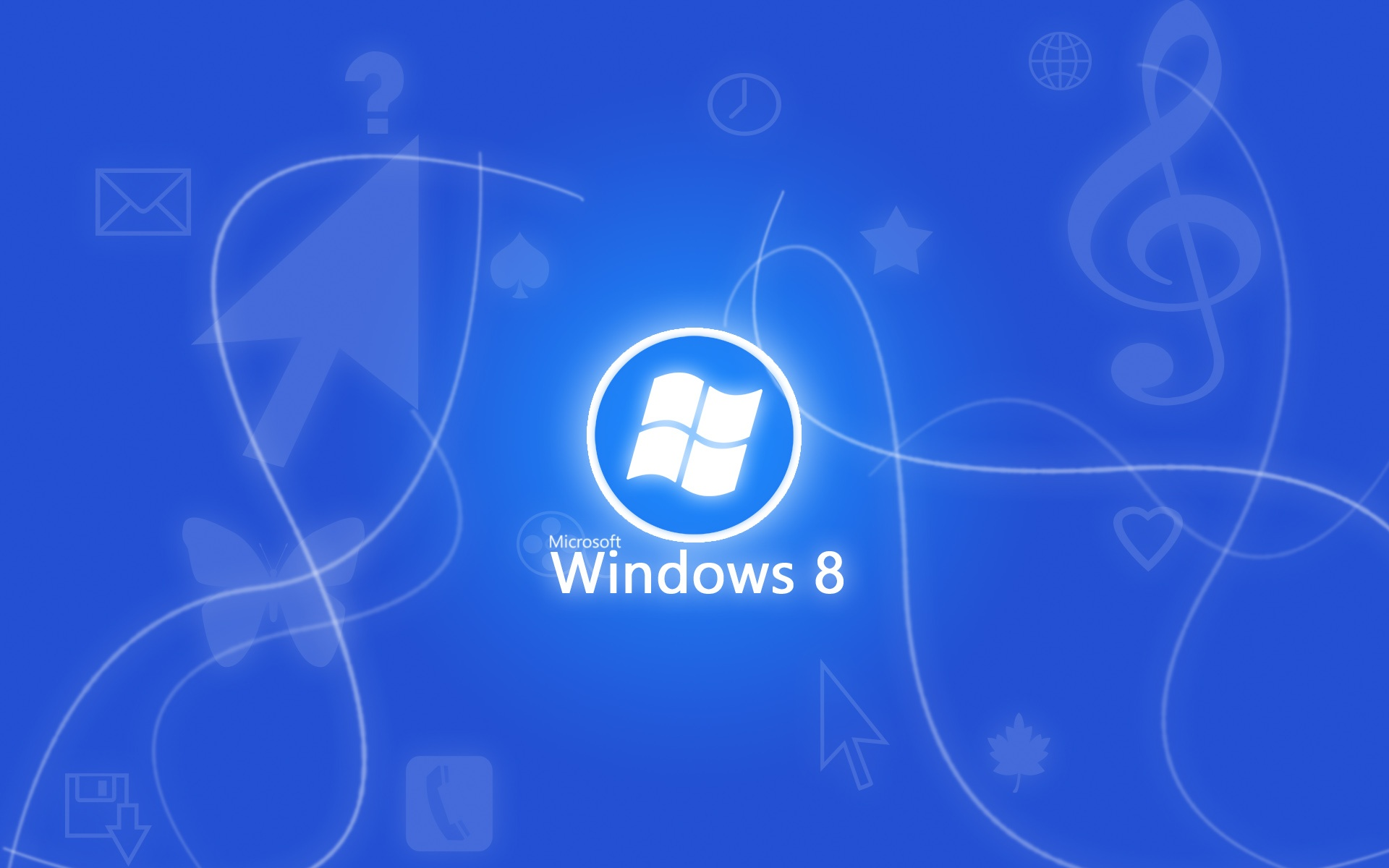 壁紙 Windowsの8青色の背景 1920x1200 Hd 無料のデスクトップの背景 画像
