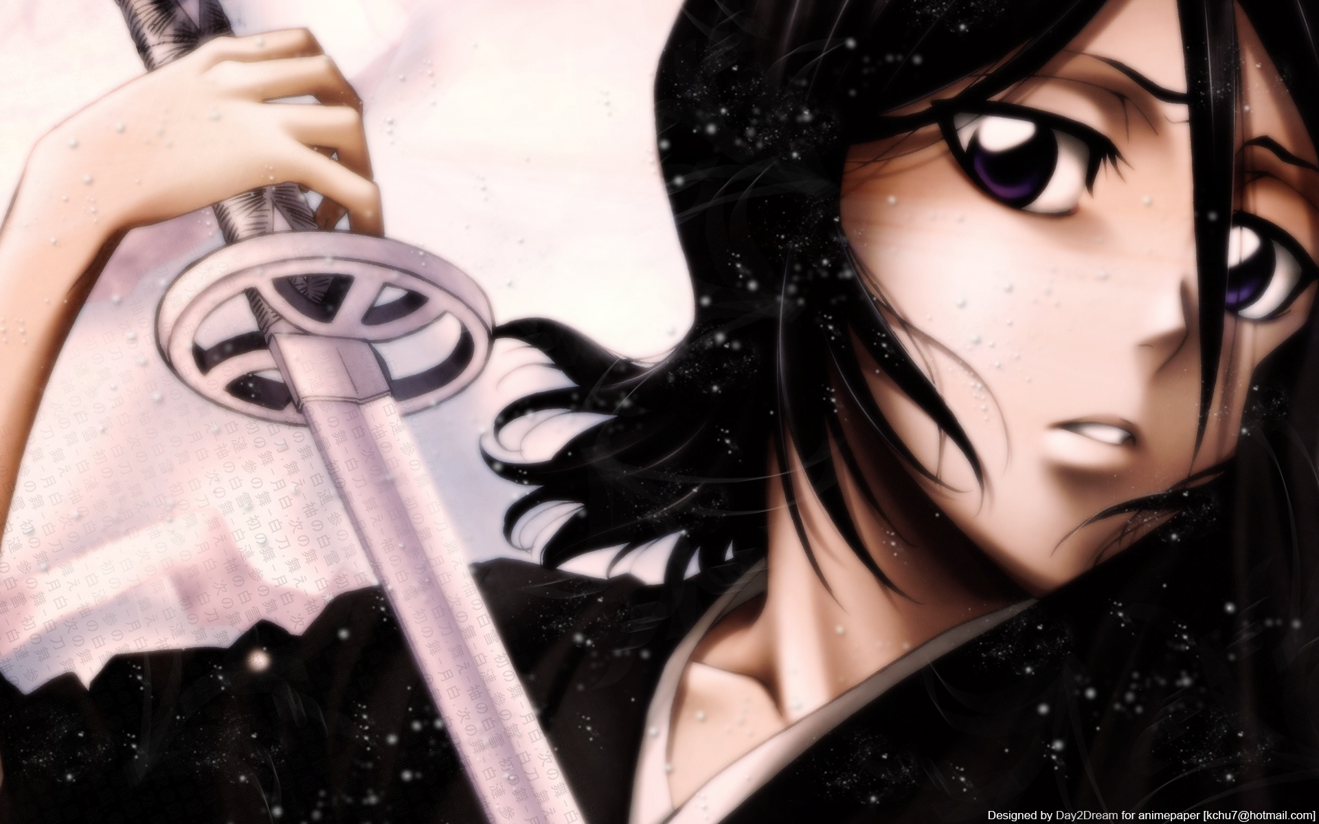 Wallpaper Black Hair Anime Girl Holding A Sword 1920x1200 Hd Picture Image