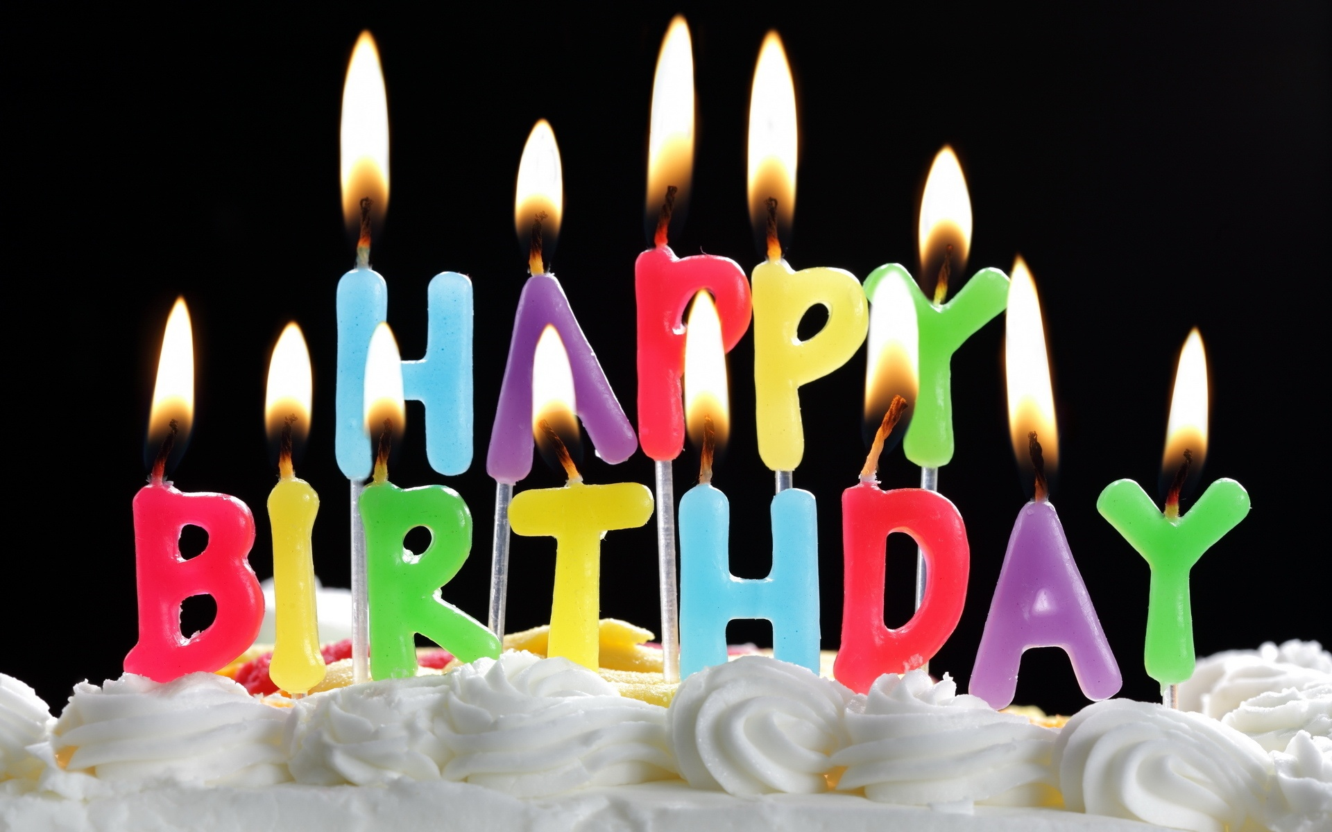 Wallpaper Happy Birthday Cake And Candles 1920x1200 Hd