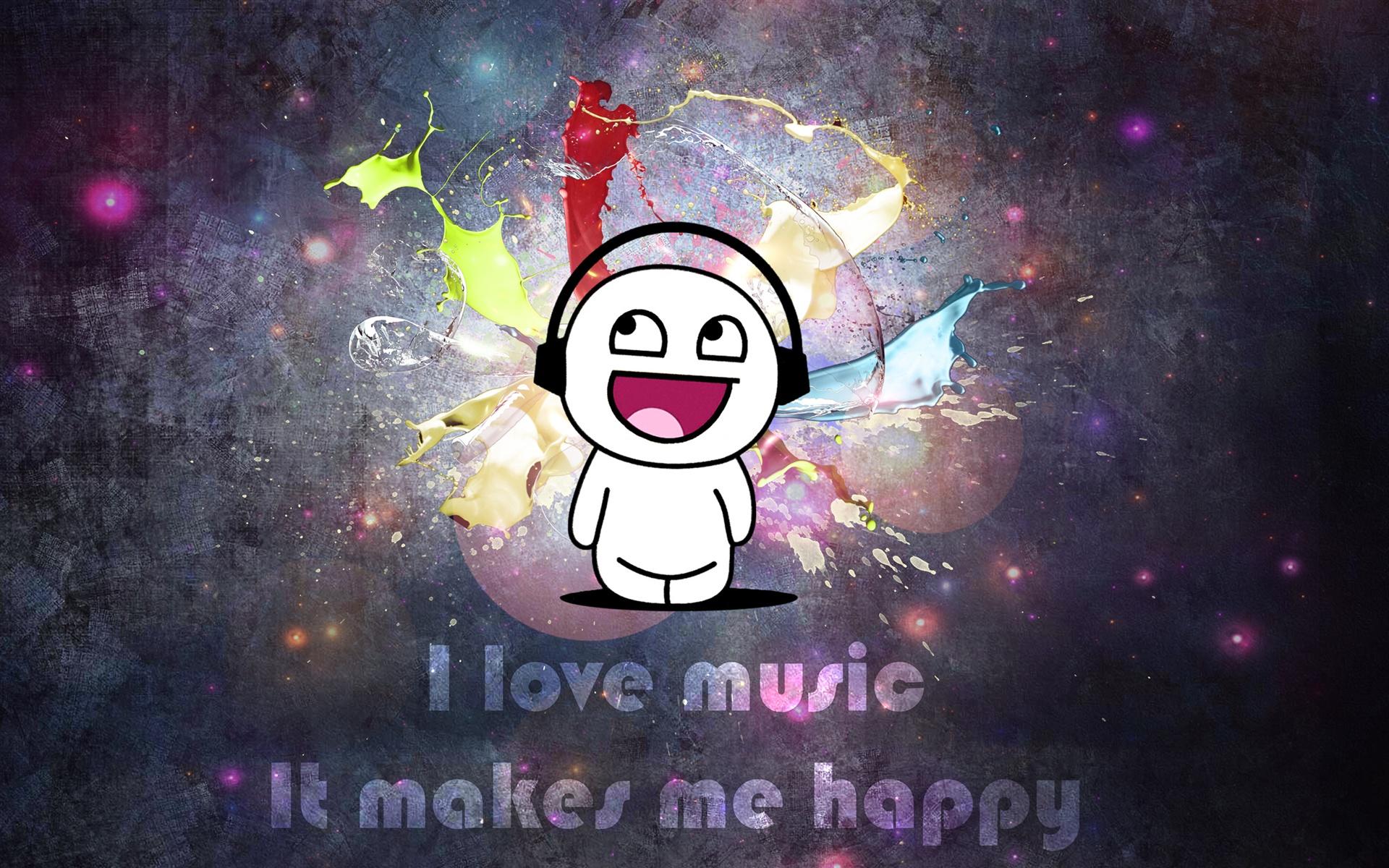 I Love Music Hd Wallpaper For Mobile: Wallpaper I Love Music, It Makes Me Happy 2560x1600 HD